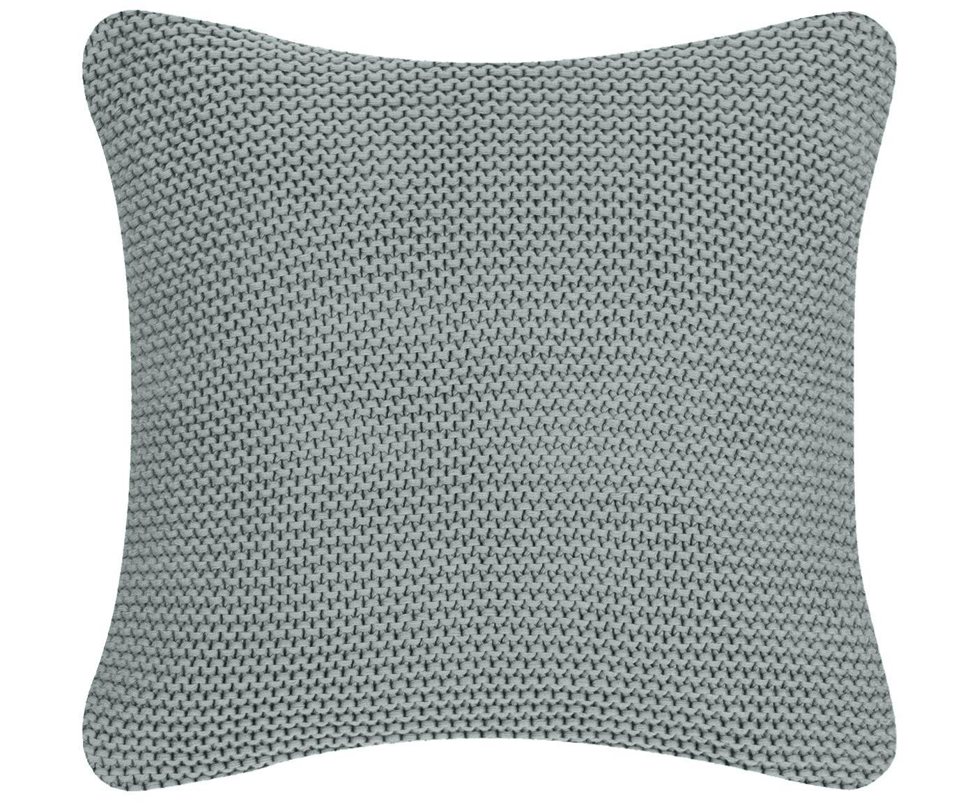 Strick-Kissenhülle Adalyn in Salbeigrün, 100% Baumwolle, Salbeigrün, 50 x 50 cm