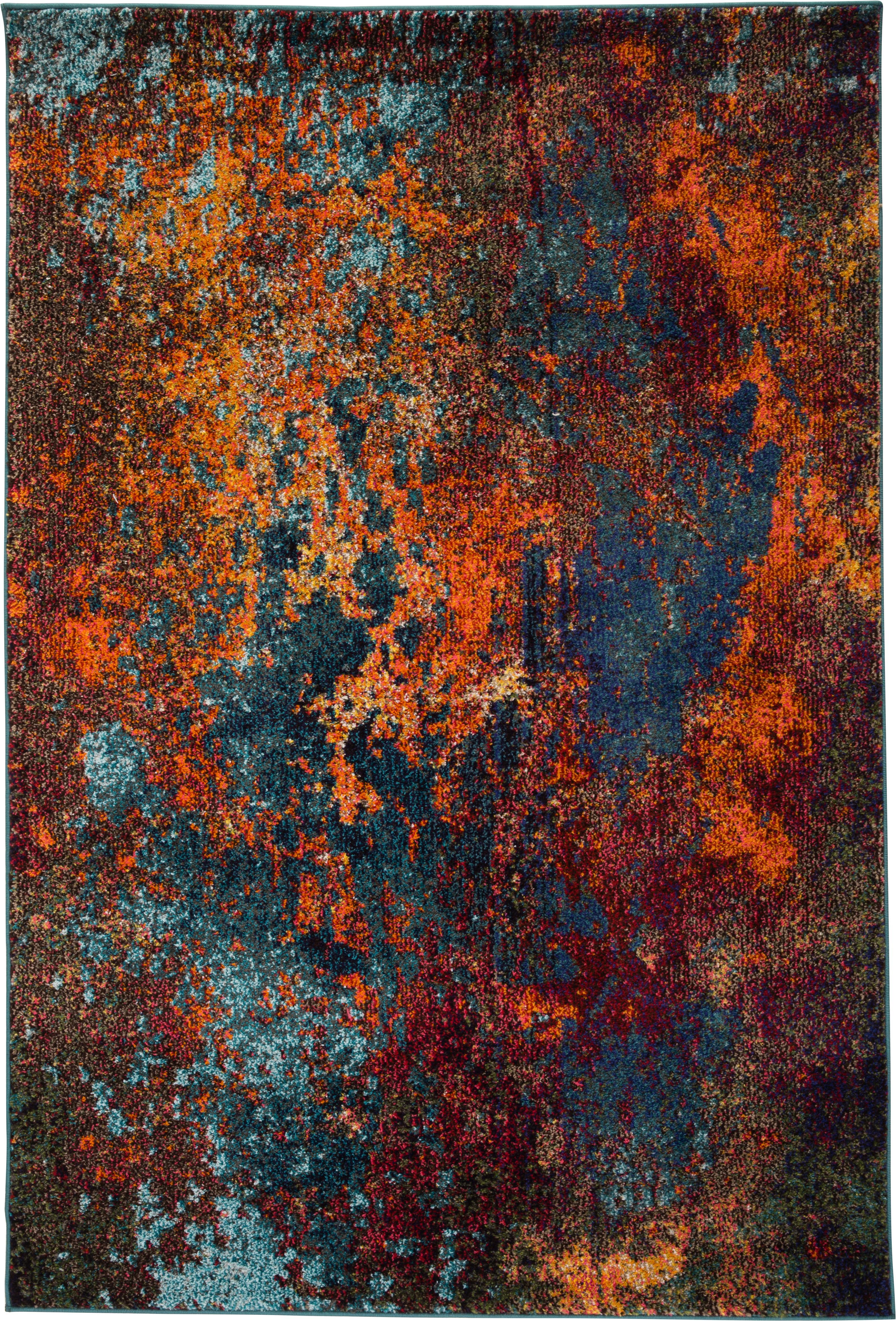 Designteppich Celestial in Bunt, Flor: 100% Polypropylene, Rottöne, Blautöne, Grün, B 120 x L 180 cm (Größe S)