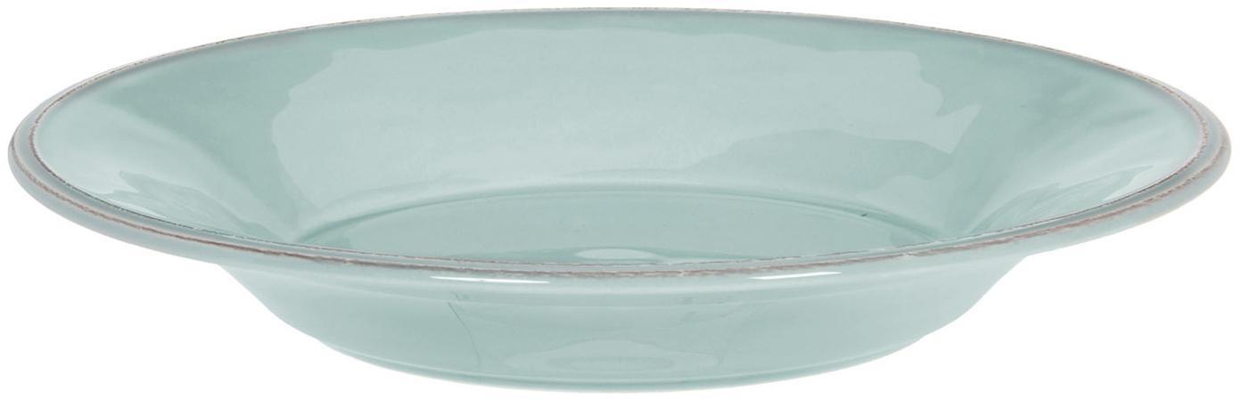 Platos de pasta Constance, 2uds., estilo rústico, Gres, Menta, Ø 27 cm