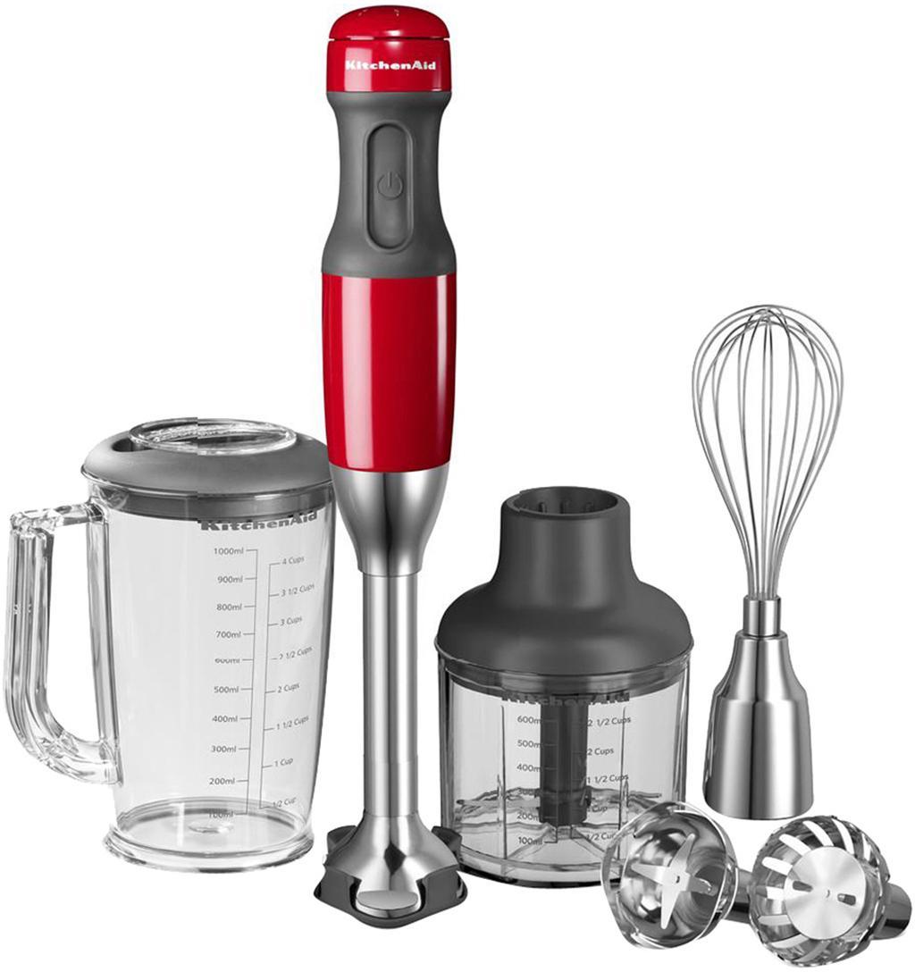 Stabmixer-Set KitchenAid, 14-tlg., Gehäuse: Kunststoff., Rot, 6 x 40 cm