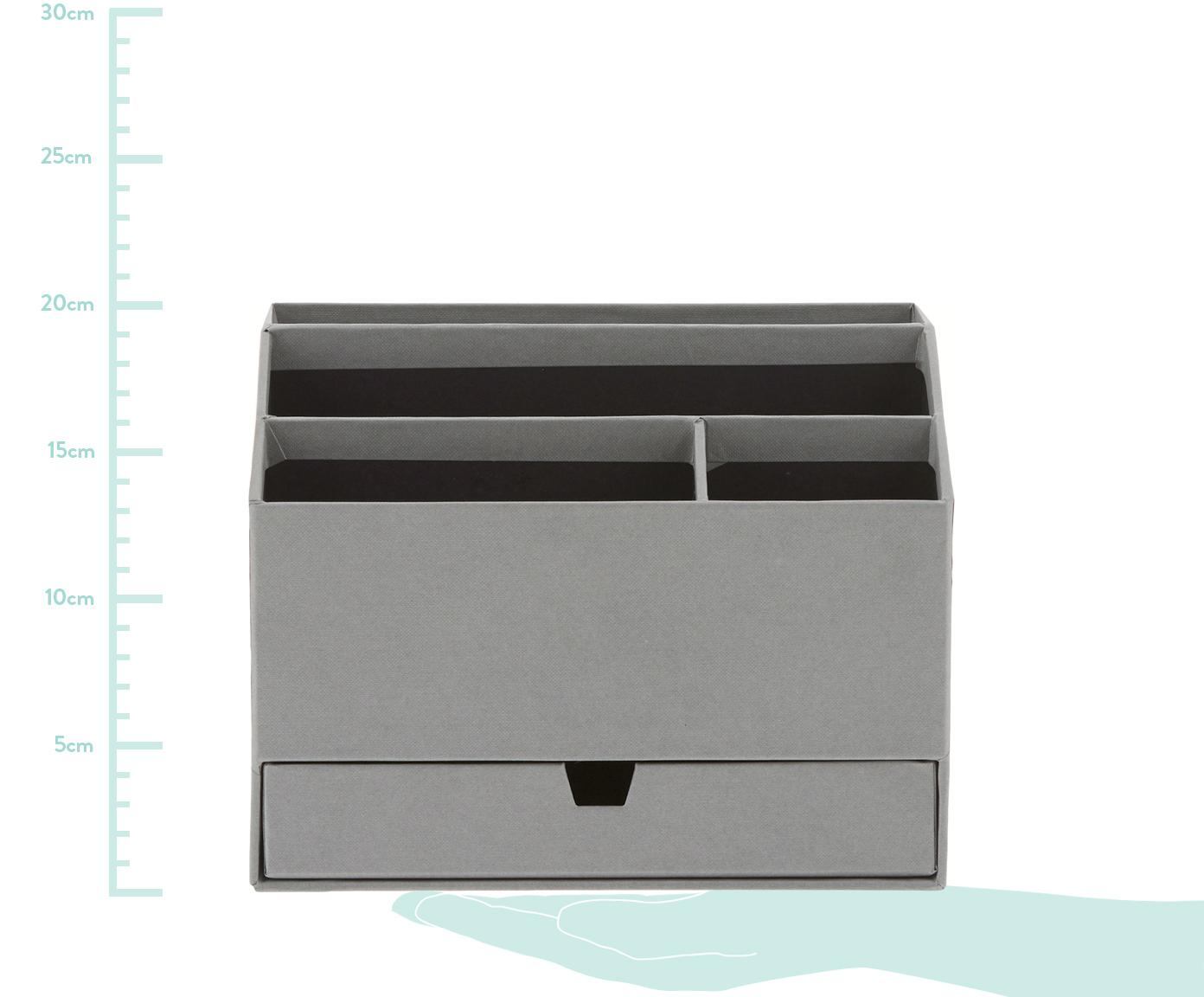Büro-Organizer Greta, Fester, laminierter Karton, Grau, 24 x 18 cm