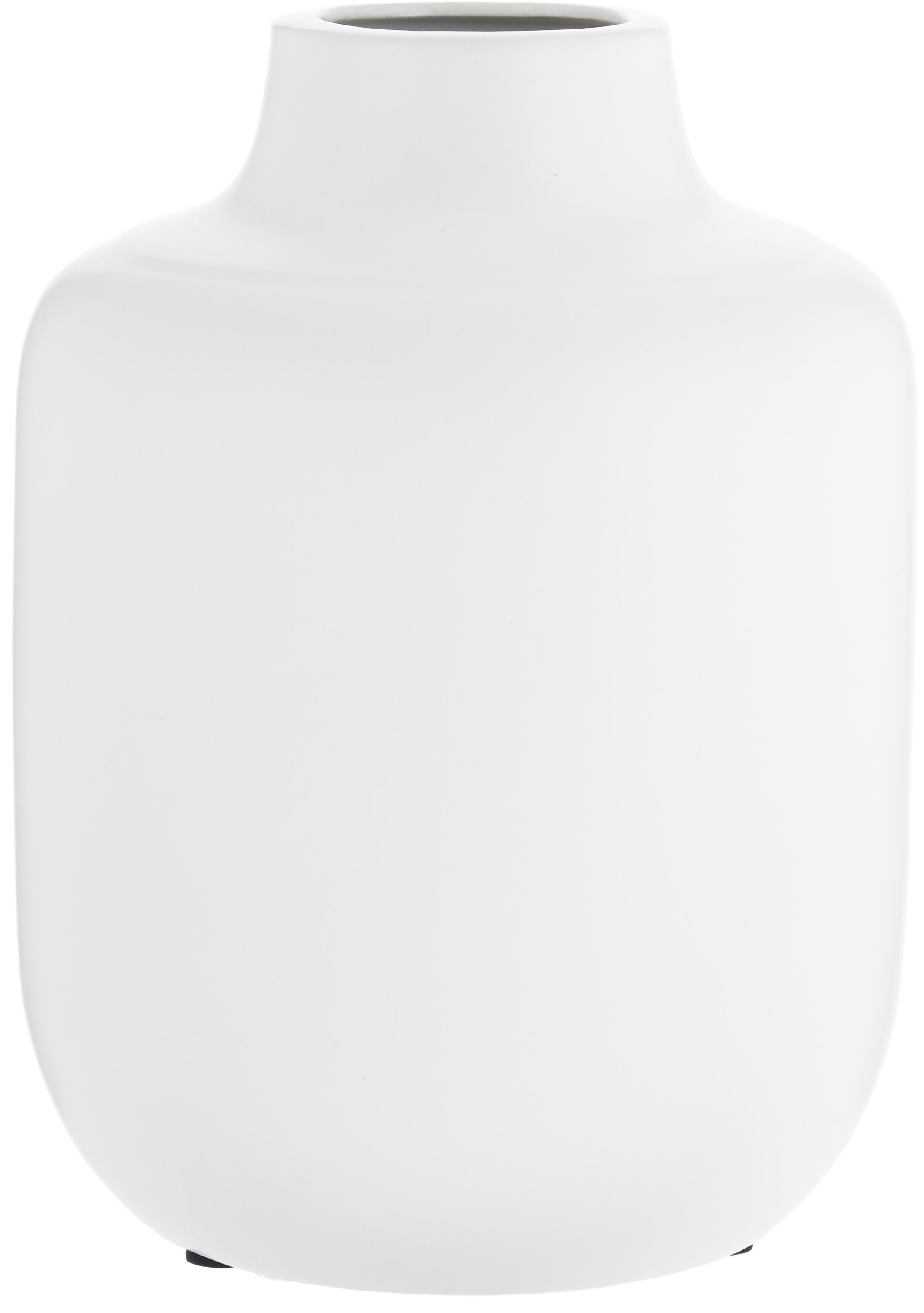 Porzellan-Vase Belle Blanc, Porzellan, Weiß, Ø 17 x H 20 cm