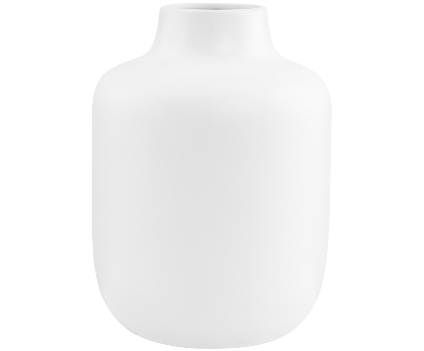 Jarrón de porcelana Belle Blanc, Porcelana, Blanco, Ø 17 x Al 20 cm