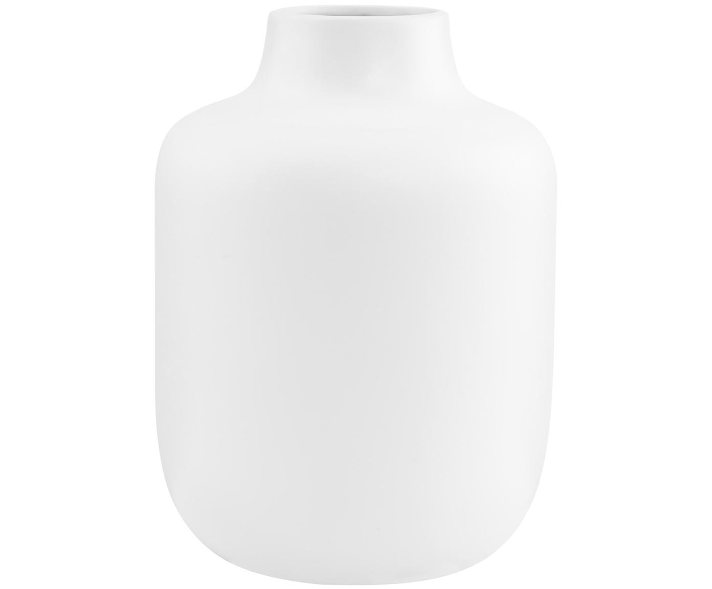 Vaso in porcellana Belle Blanc, Porcellana, Bianco, Ø 17 x Alt. 20 cm