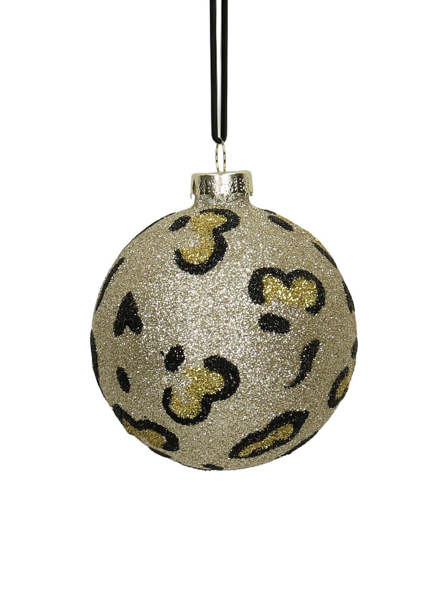 Weihnachtskugeln Krave, 2 Stück, Goldfarben, Schwarz, Ø 8 cm