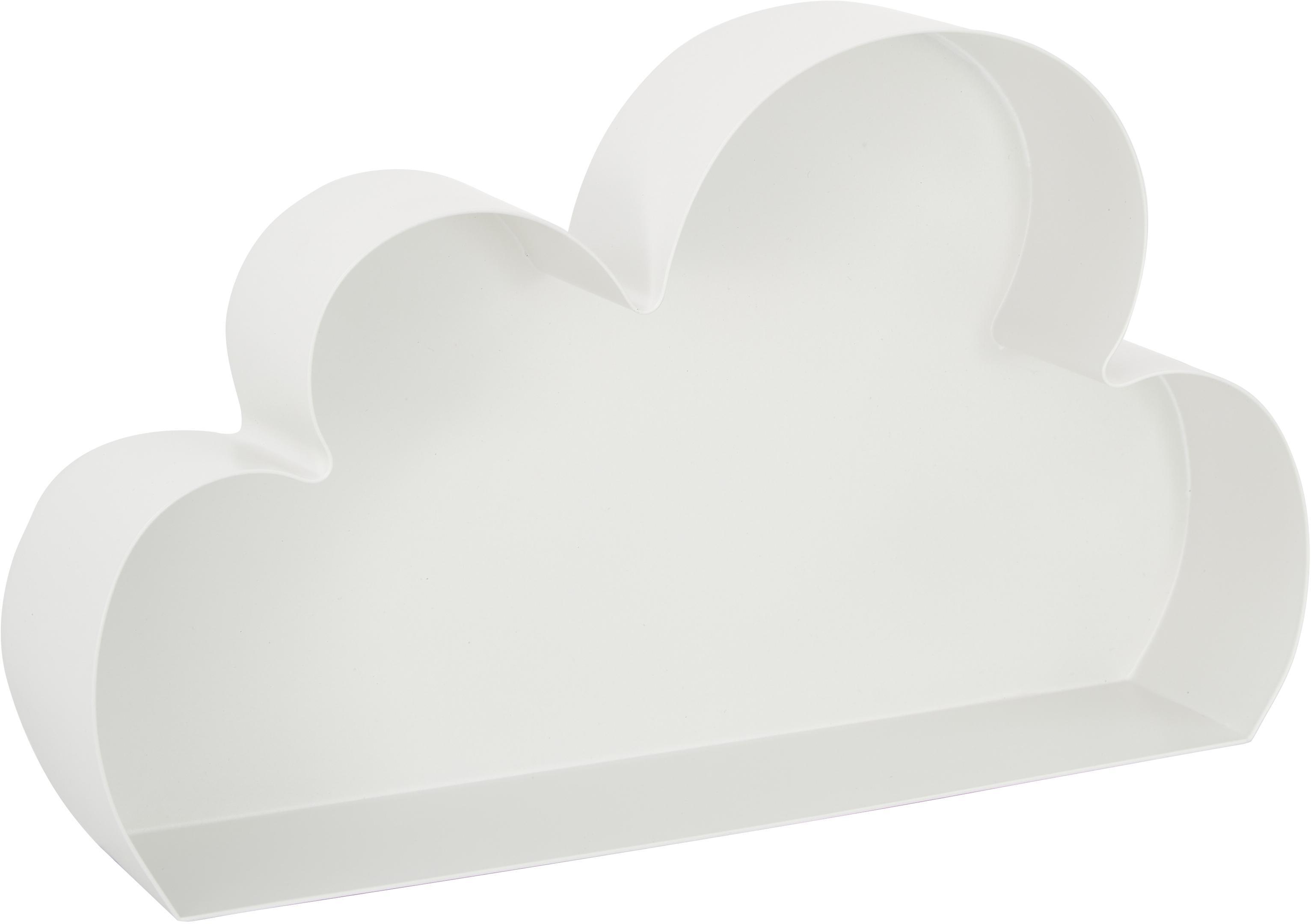 Mensola nuvola in metallo verniciato Cloud, Metallo verniciato, Bianco, Larg. 40 x Alt. 23 cm