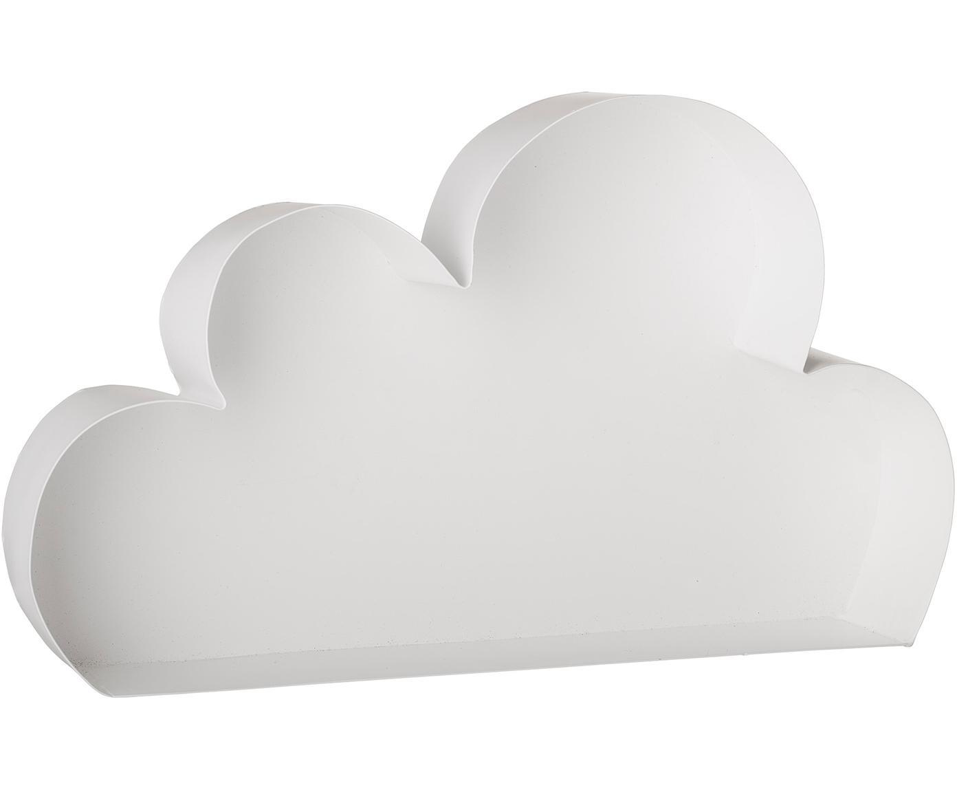 Półka ścienna Cloud, Metal lakierowany, Biały, S 40 x W 23 cm