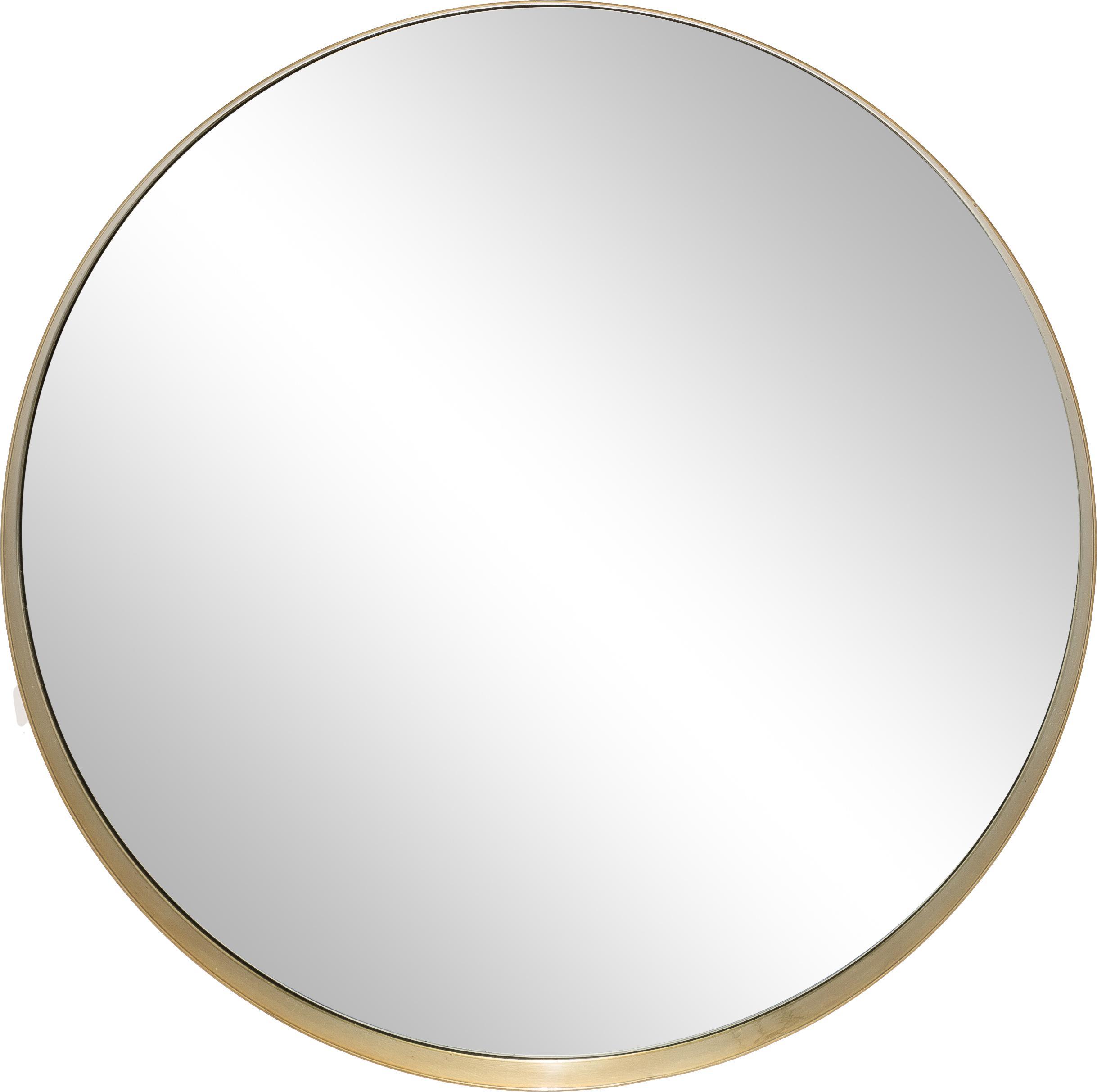 Specchio da parete rotondo Metal, Cornice: metallo verniciato con se, Cornice: dorato<br>Lastra di vetro, Ø 30 cm