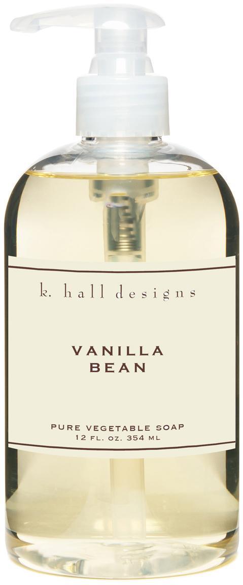 Vloeibare handzeep Vanilla Bean (vanille en tonkaboon), Transparant, Ø 7 x H 16 cm