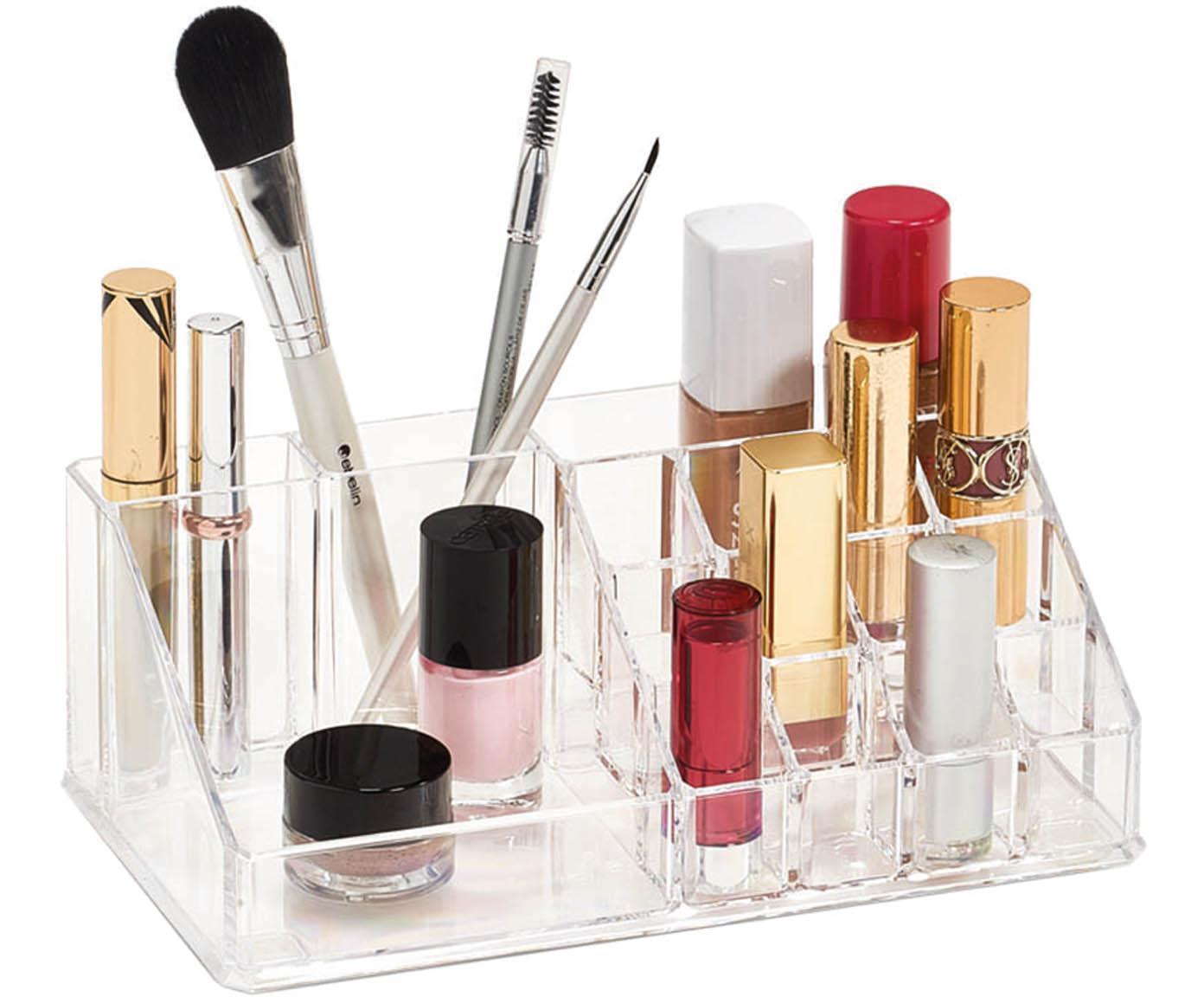 Organizer na kosmetyki Clear, Tworzywo sztuczne, Transparentny, S 22 x W 8 cm