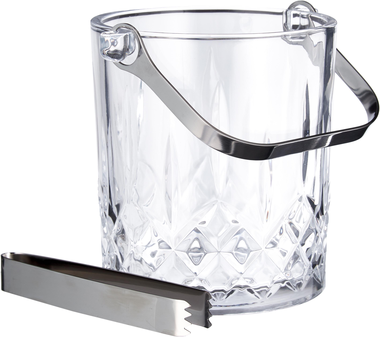 Eiseimer-Set Harvey, 2-tlg., Glas, Transparent, Ø 13 x H 14 cm