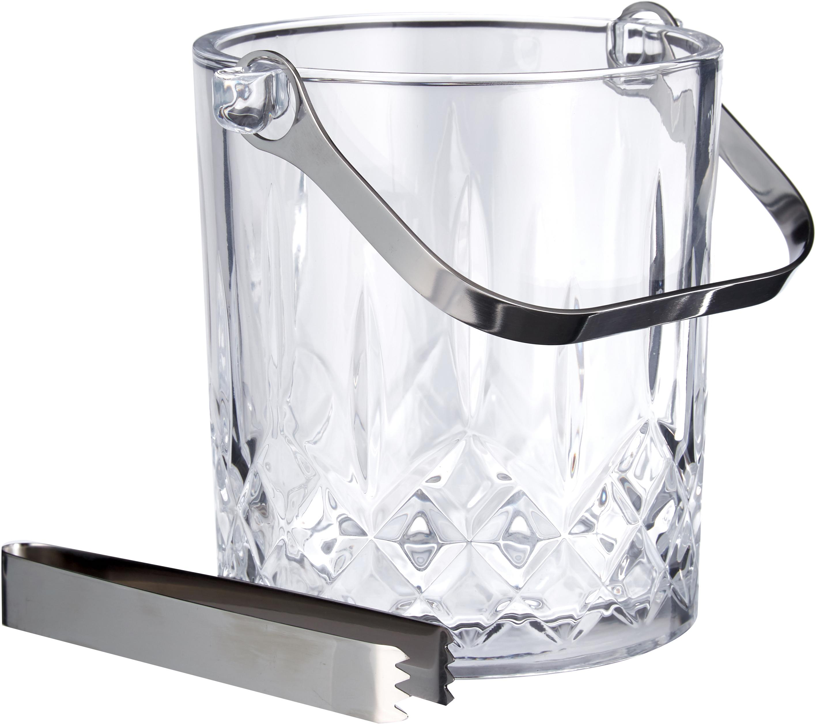Komplet do lodu, 2 elem., Szkło, Transparentny, Ø 13 x W 14 cm