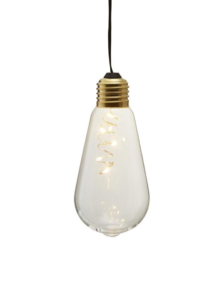 Dekoleuchte Glow, Lampenschirm: Glas, Transparent, Ø 6 x H 13 cm