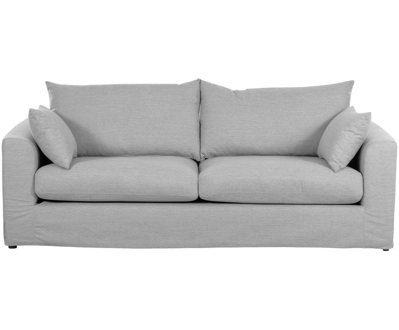 Sofa Zach (3-Sitzer), Bezug: Polypropylen Der hochwert, Füße: Kunststoff, Webstoff Grau, B 231 x T 90 cm