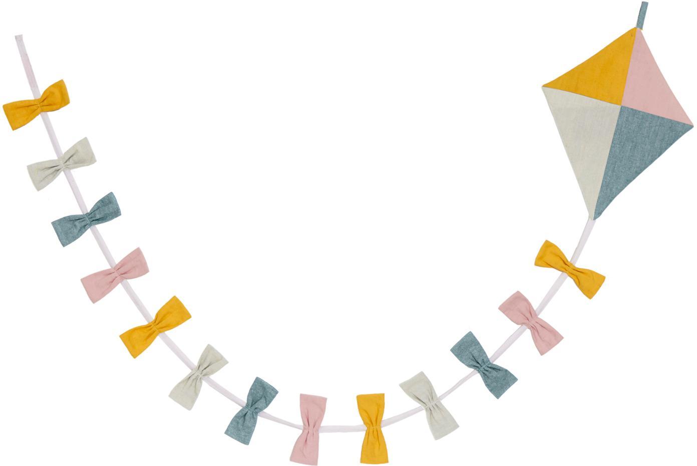 Girlande Kite aus Bio-Baumwolle, 180 cm, Bio-Baumwolle, Mehrfarbig, L 180 x H 15 cm