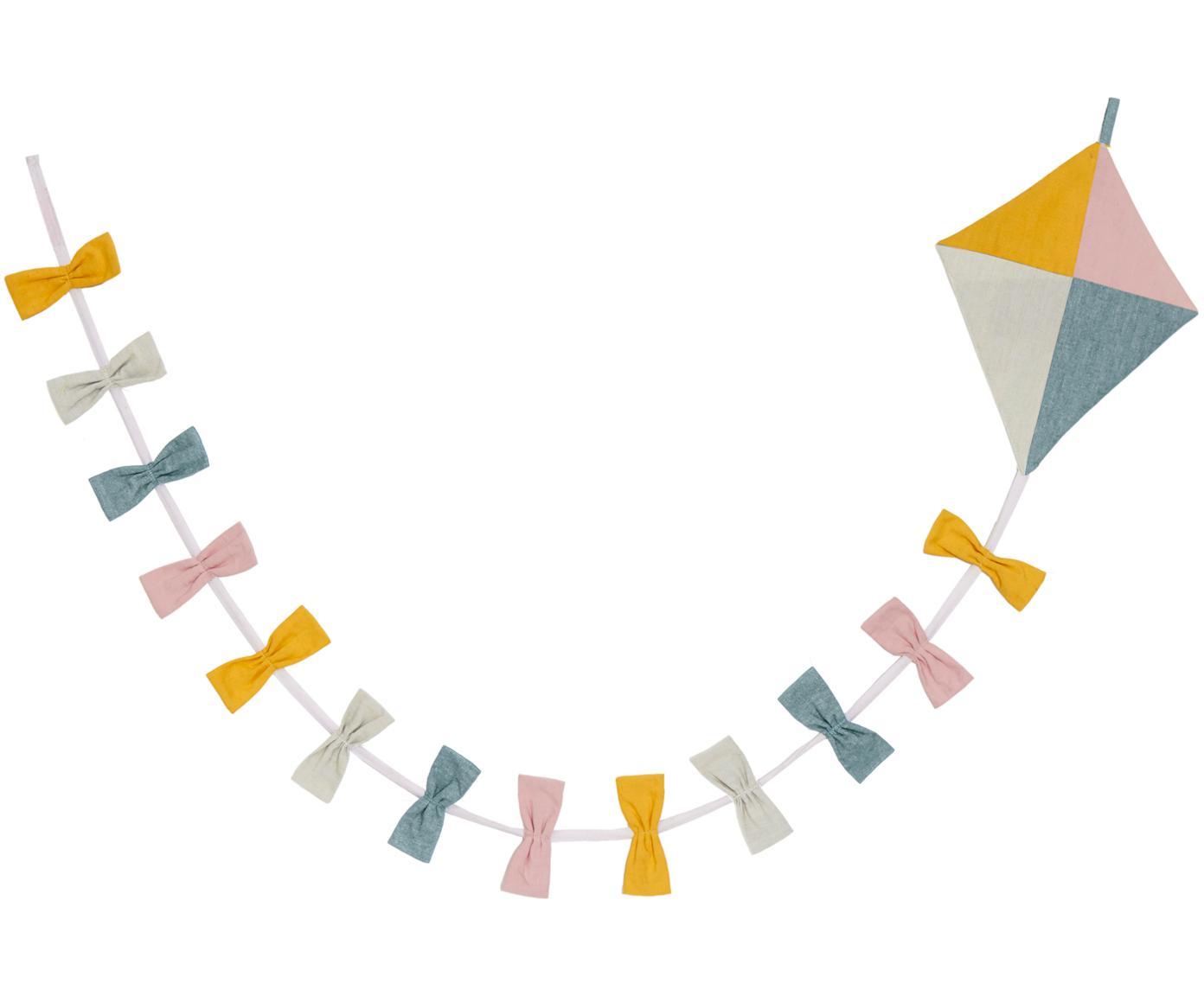 Girlande Kite aus Bio-Baumwolle, 180 cm, Bio-Baumwolle, Mehrfarbig, L 180 cm