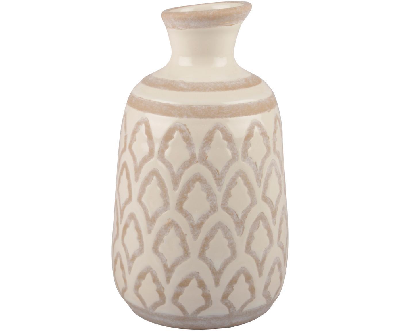 Vase Rustica aus Keramik, Keramik, Cremefarben, Beige, Ø 14 x H 22 cm