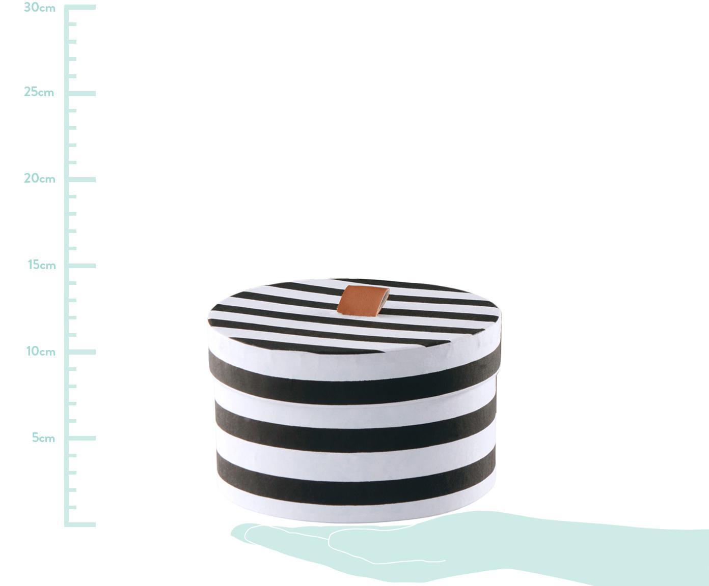 Aufbewahrungsboxen-Set Dizzy, 3-tlg., Karton, Schwarz, Weiß, Braun, Sondergrößen