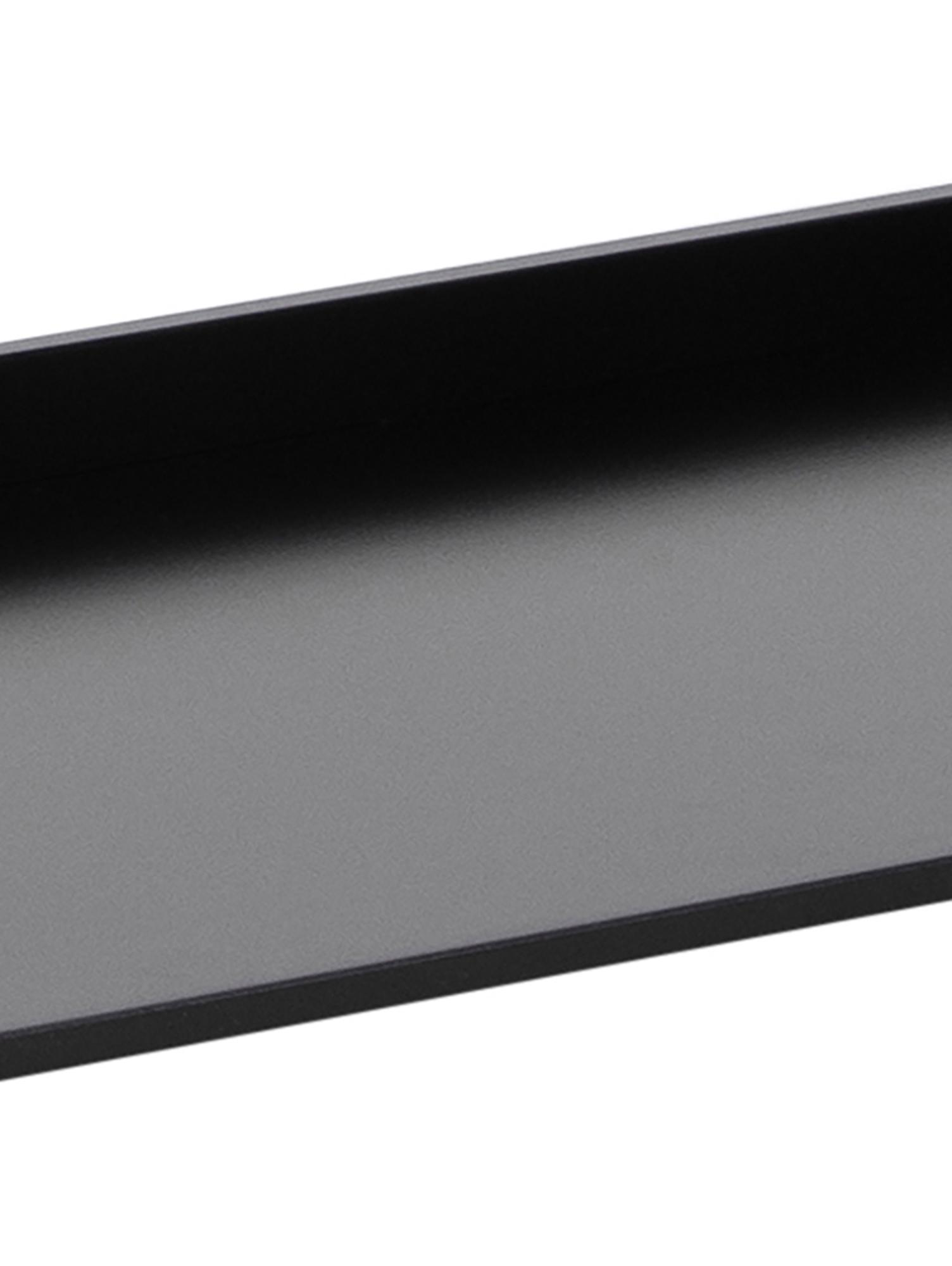 Standregal Wally in Schwarz, Mitteldichte Holzfaserplatte (MDF), lackiert, Schwarz, 63 x 180 cm