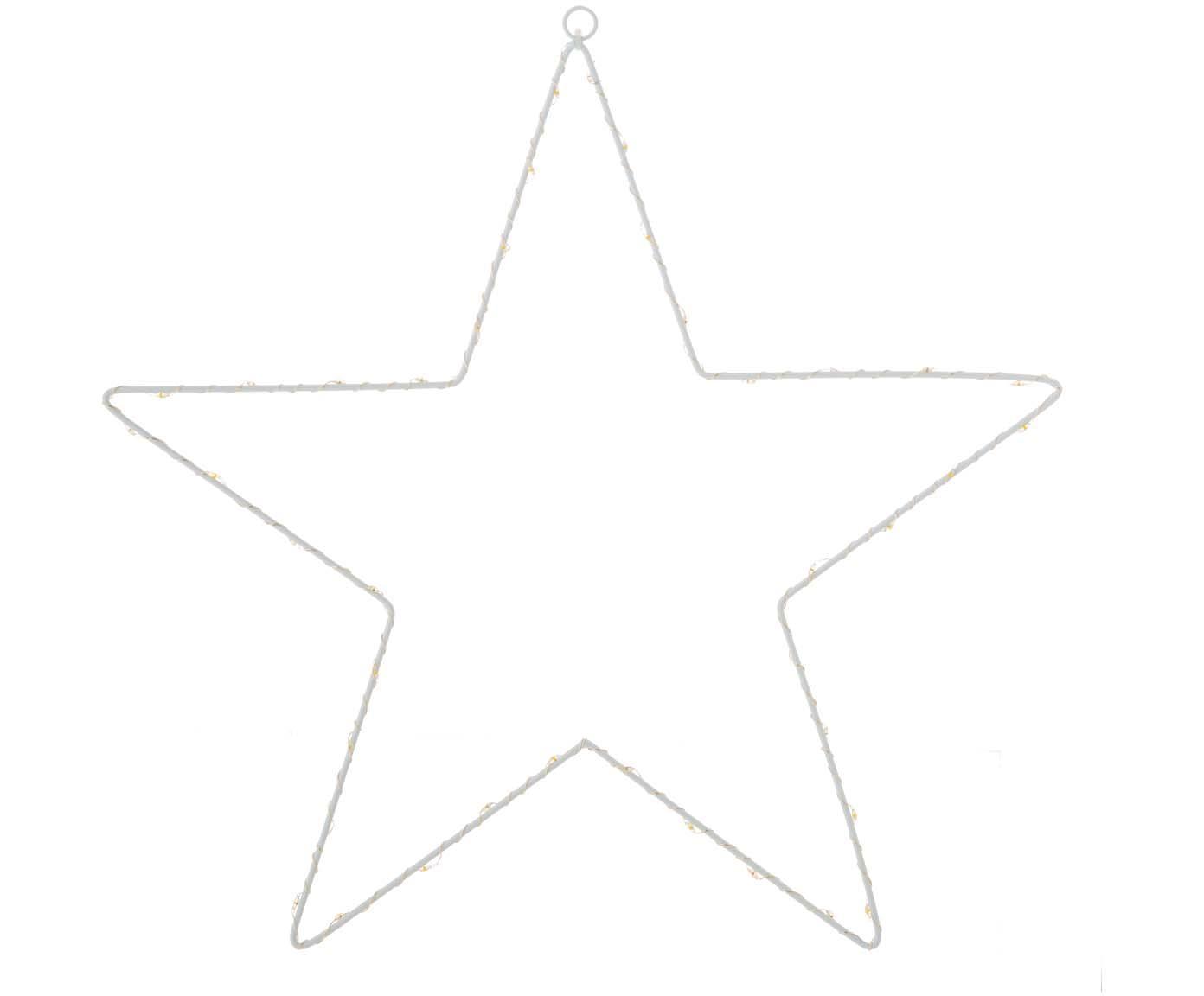 LED Leuchtobjekt Silhouet, Metall, lackiert, Weiß, 40 x 40 cm