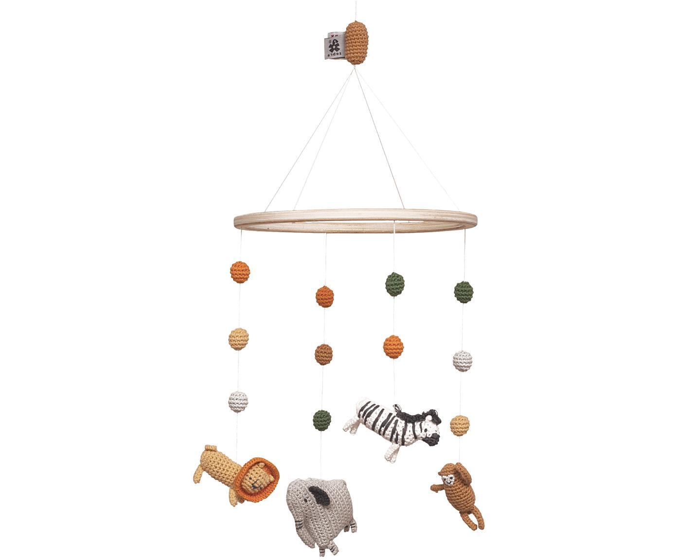 Babymobiel Wildlife, Katoen, hout, Multicolour, Ø 22 x H 57 cm