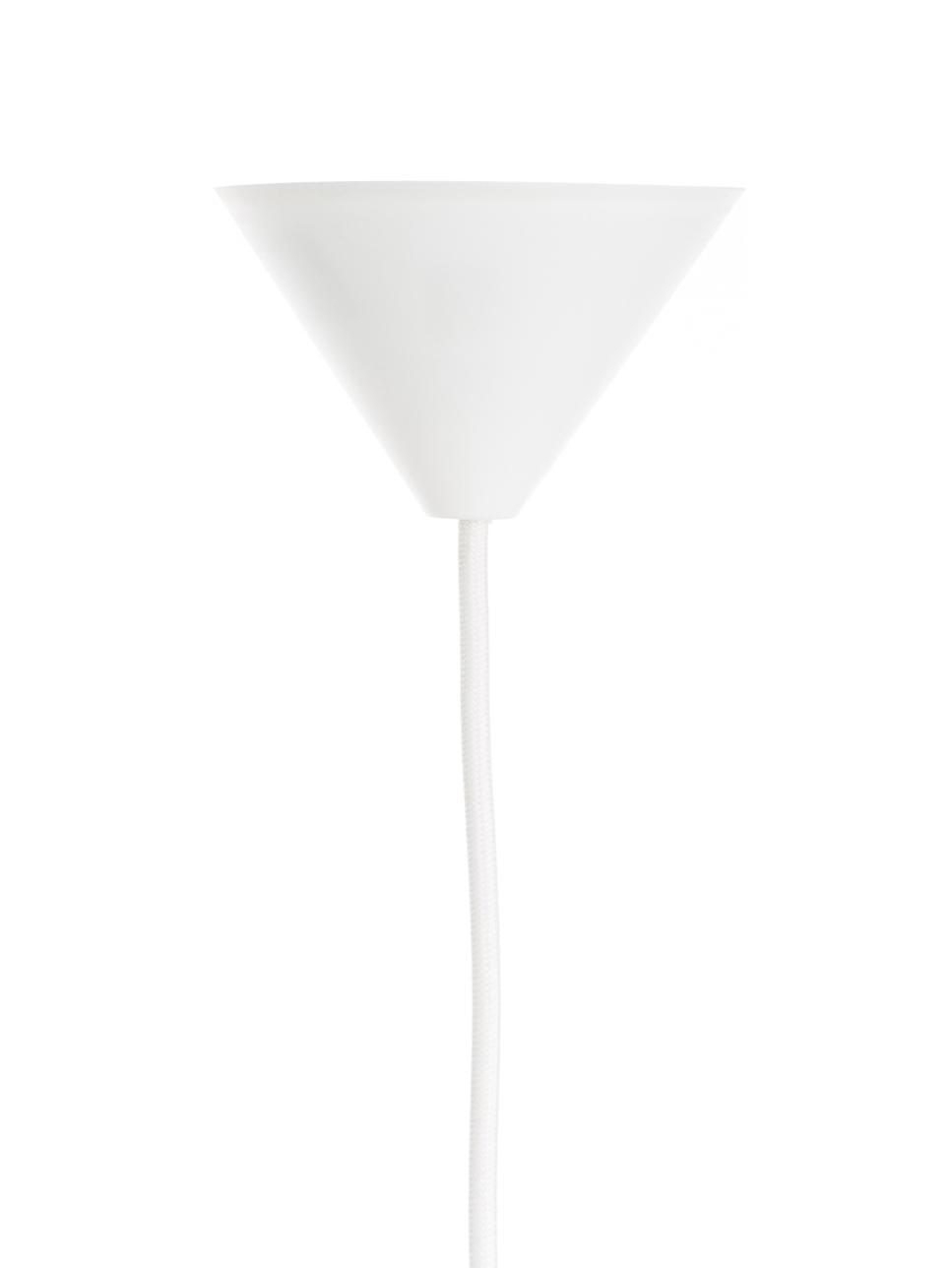 Pendelleuchte Eos Esther aus Federn, Lampenschirm: Gänsefedern, Textil, Baldachin: Kunststoff, Weiß, 60 x 16 cm
