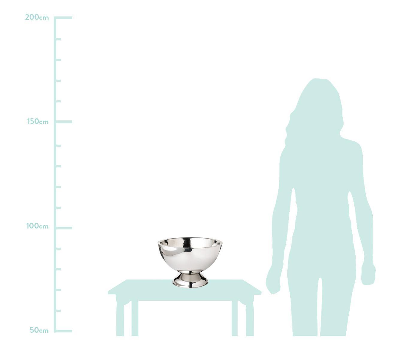 Flaschenkühler Cadiz, Edelstahl Innen gehämmert, aussen glatt, Edelstahl, Ø 32 x H 21 cm