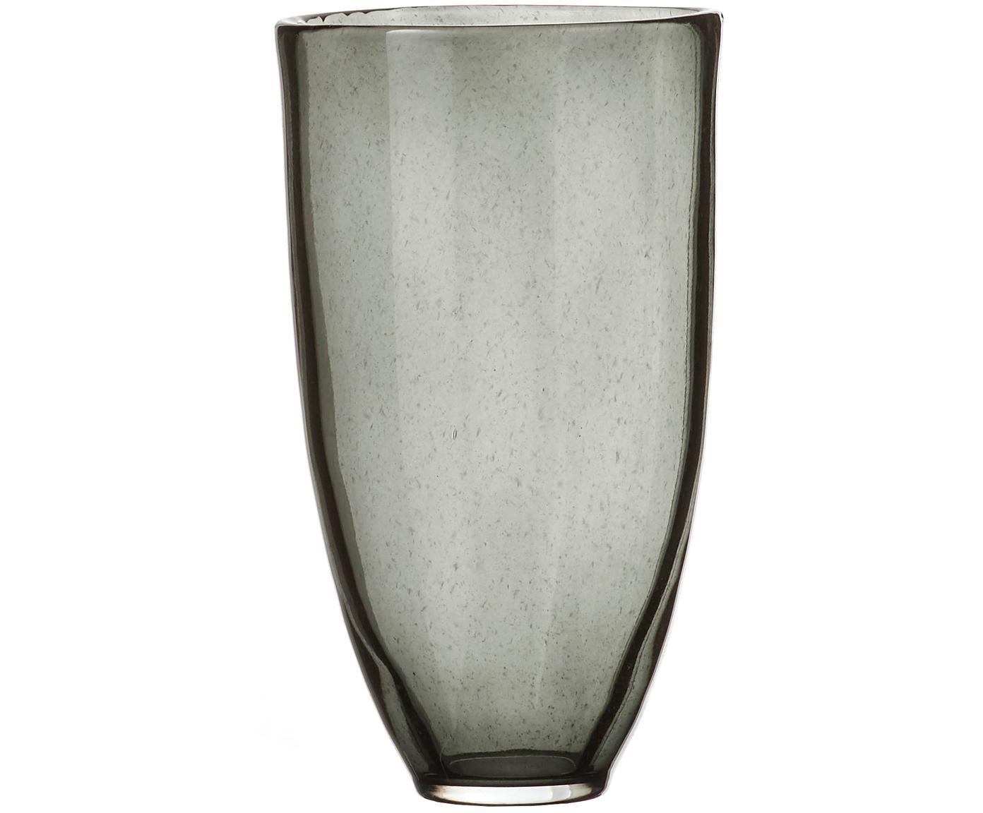 Grote glazen vaas Jinx, Glas, Zwart, transparant, Ø 19 x H 35 cm