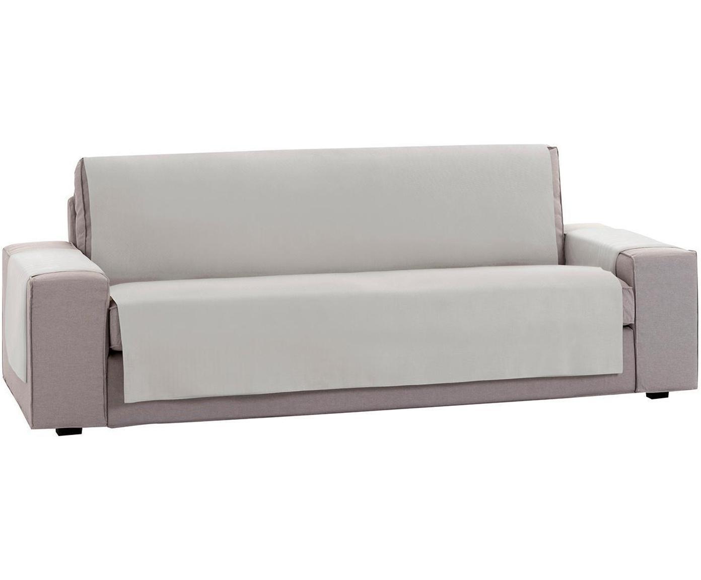 Funda de sofá Levante, 50%algodón, 50%poliéster, Gris verdoso, 2 plazas (115 x 220cm)