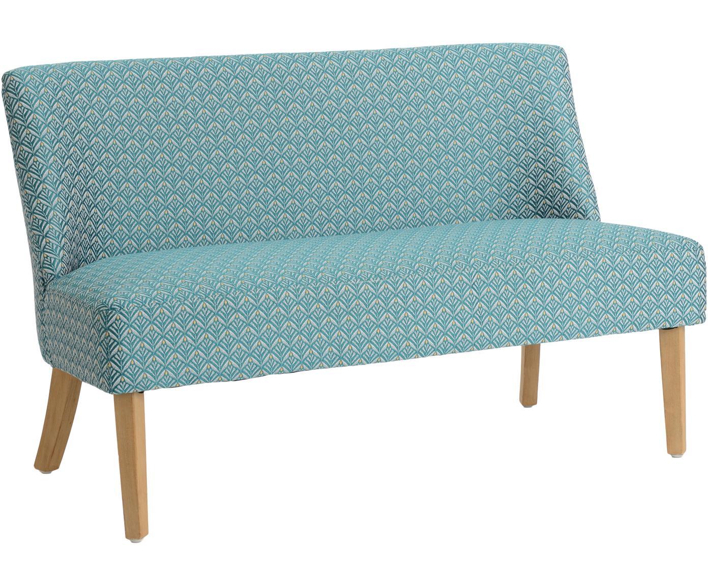 Sofá Daba, Tapizado: poliéster, algodón, Azul, beige, An 110 x Al 70 cm