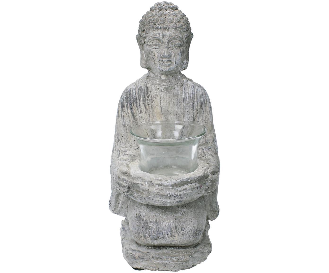 Portalumini Buddha, Grigio, Larg. 12 x Alt. 22 cm