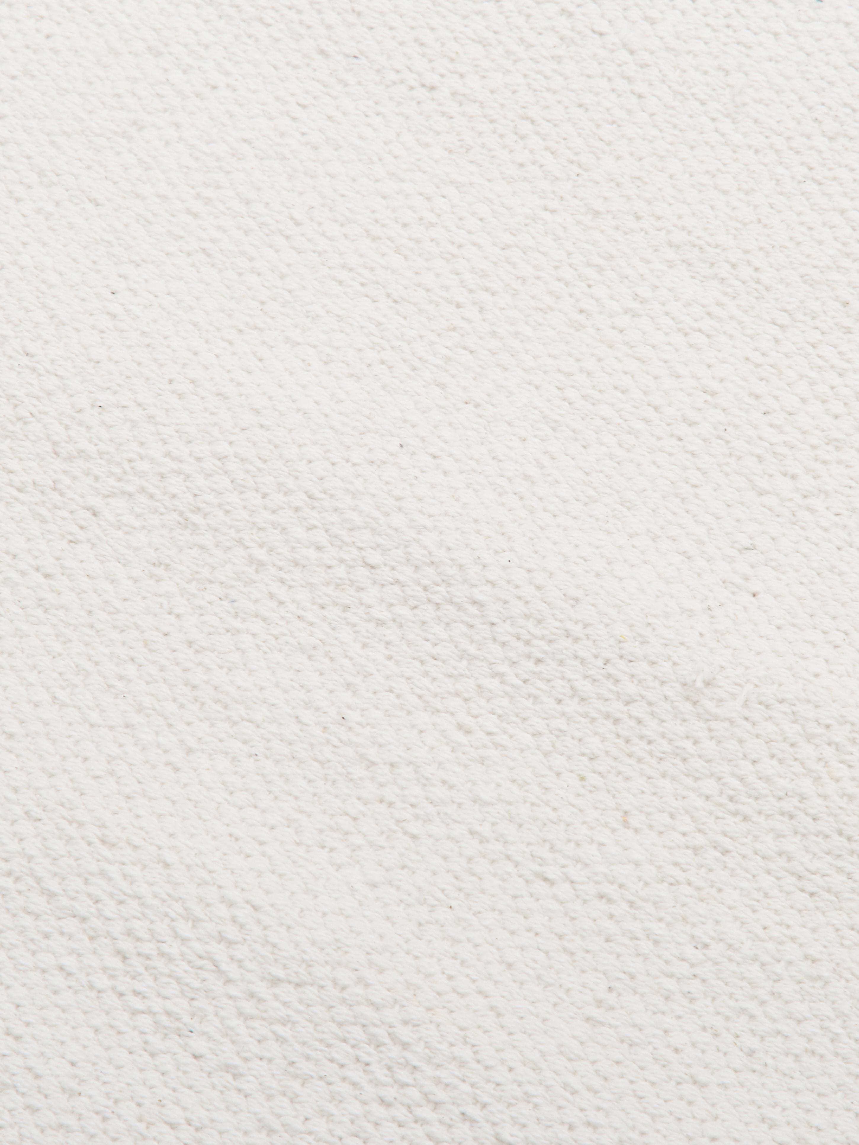 Dünner Baumwollteppich Agneta, handgewebt, 100% Baumwolle, Cremeweiss, B 160 x L 230 cm (Grösse M)