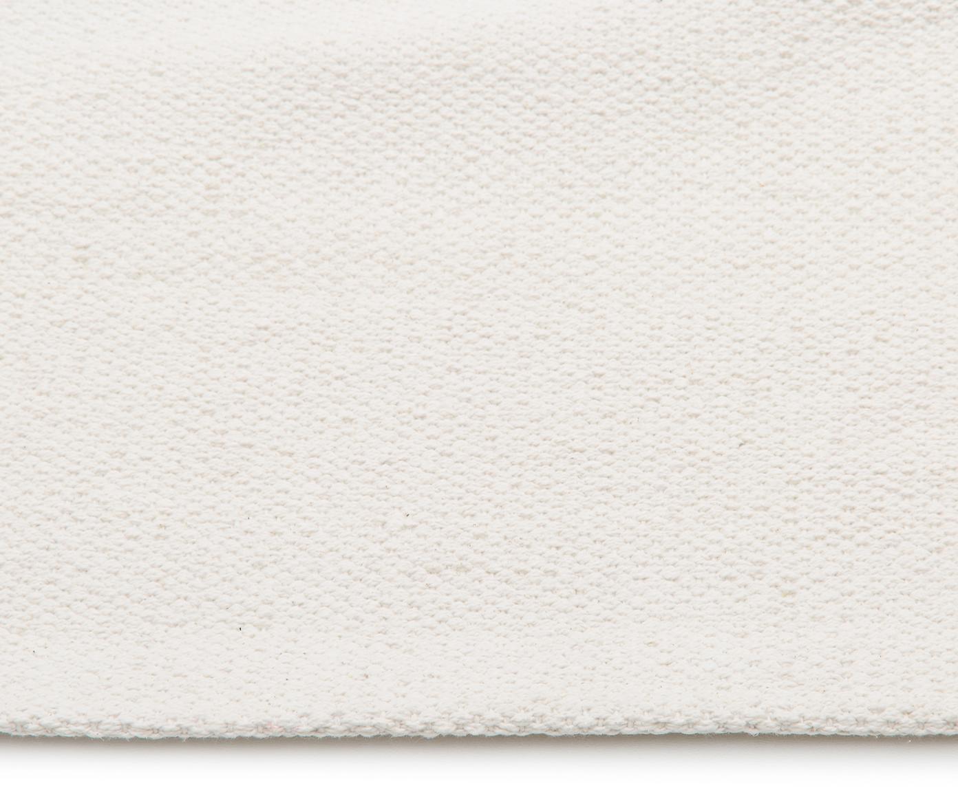 Ręcznie tkany dywan z bawełny Agneta, Bawełna, Kremowy, S 200 x D 300 cm