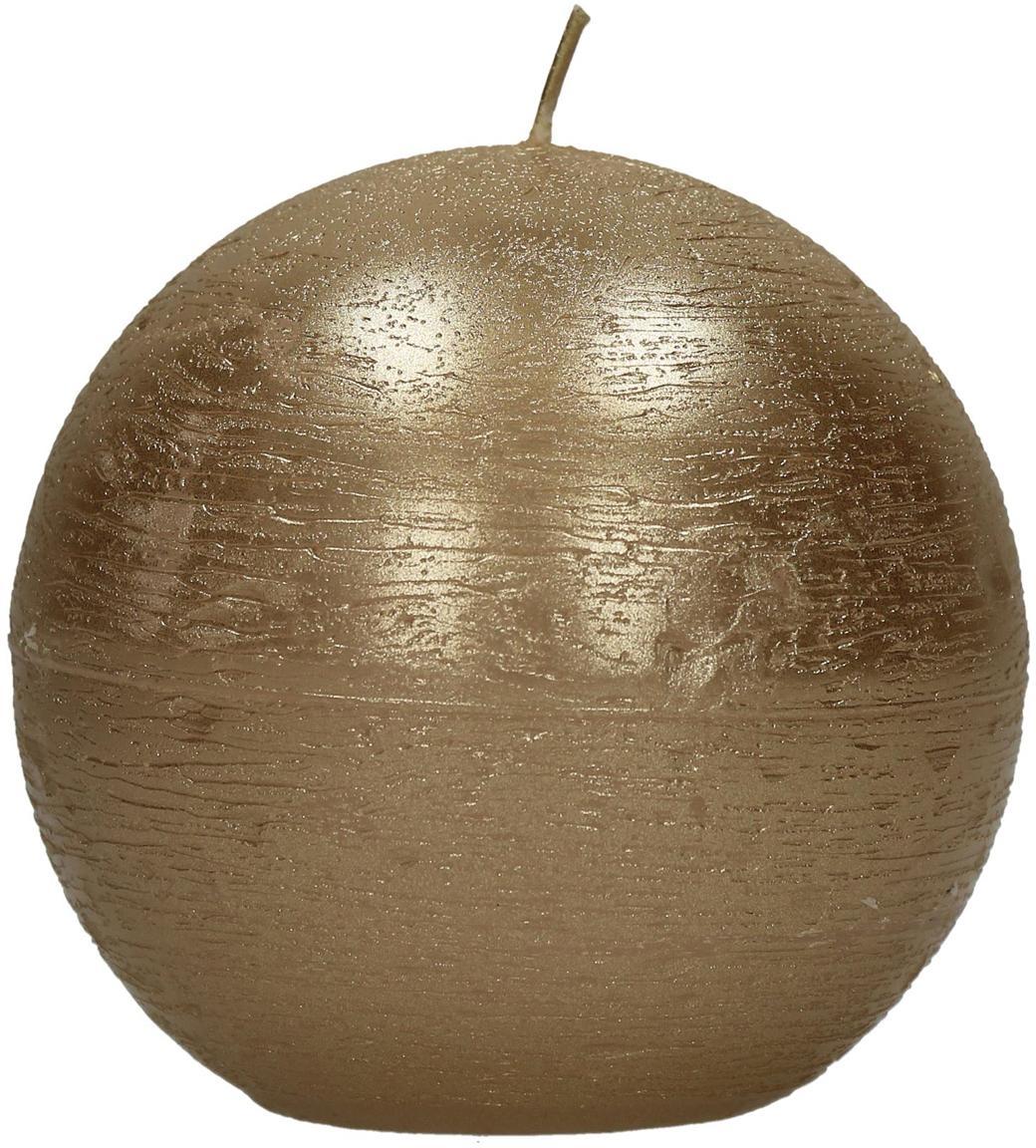 Vela Ergene, 80%parafina, 20%cera de palma, Champán, Ø 9 x Al 9 cm