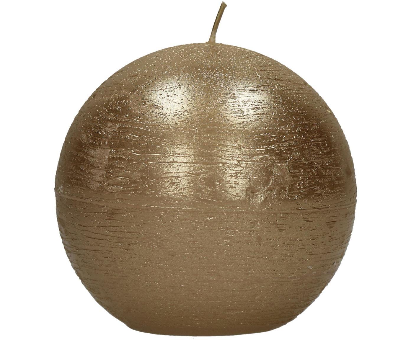 Kaars Ergene, 80% paraffinewas, 20% palmwas, Champagnekleurig, Ø 9 x H 9 cm
