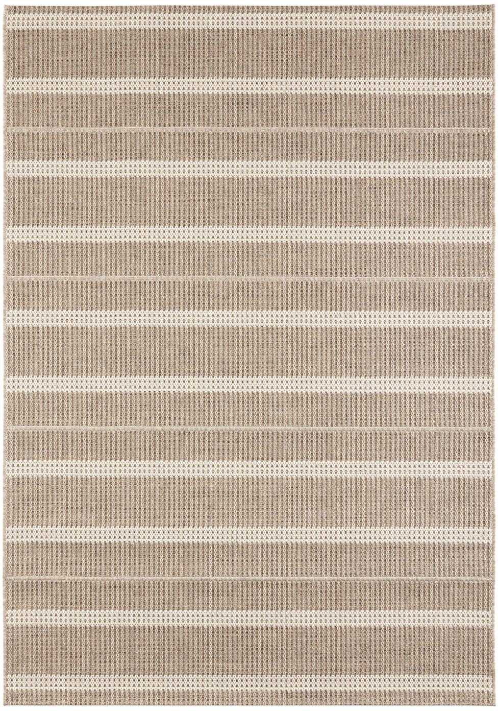 In- en outdoor vloerkleed Laon, jute-look, Polypropyleen, Bruin, beige, B 120 x L 170 cm (maat S)