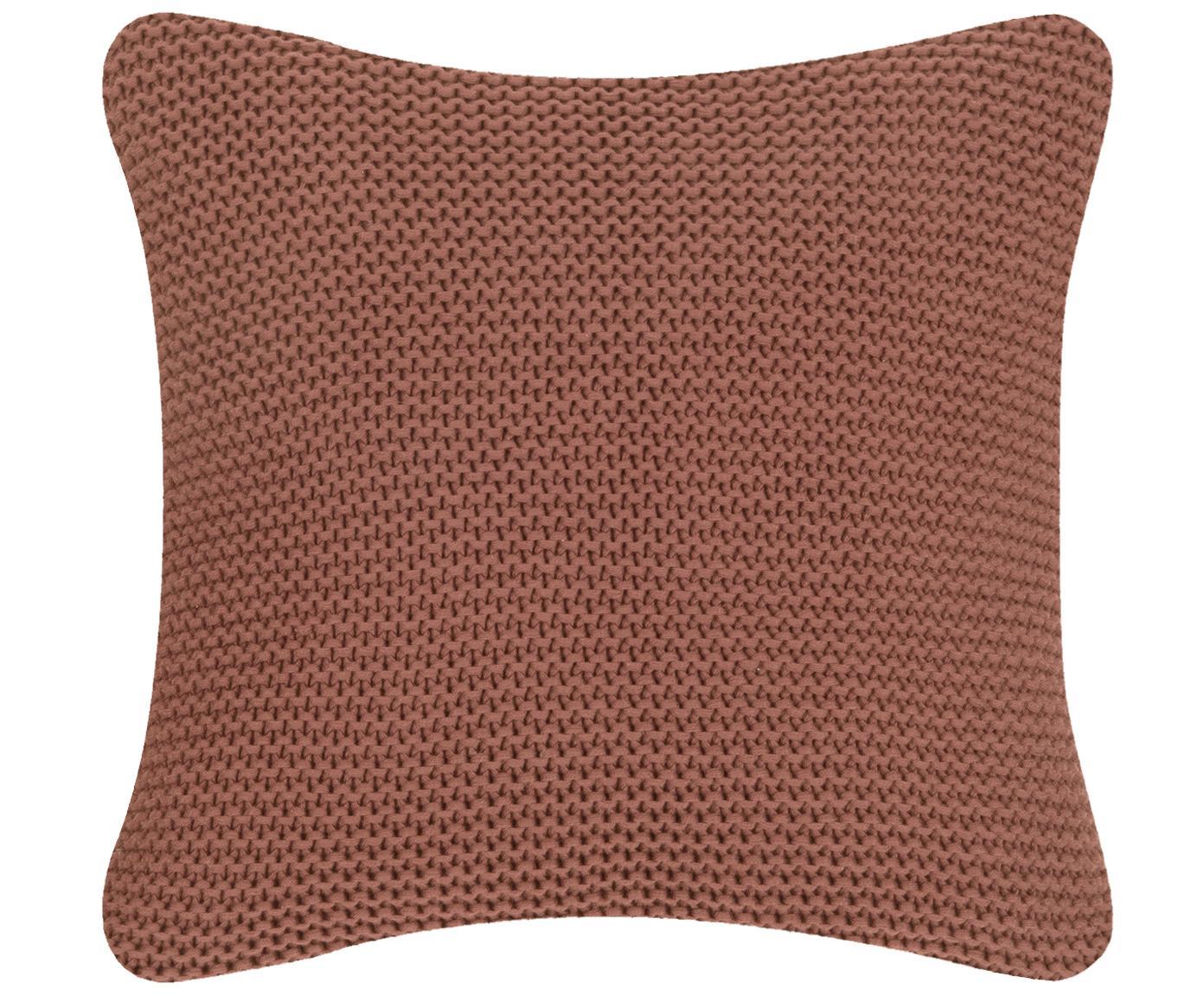 Poszewka na poduszkę z dzianiny Adalyn, 100% bawełna, Rudy, S 40 x D 40 cm