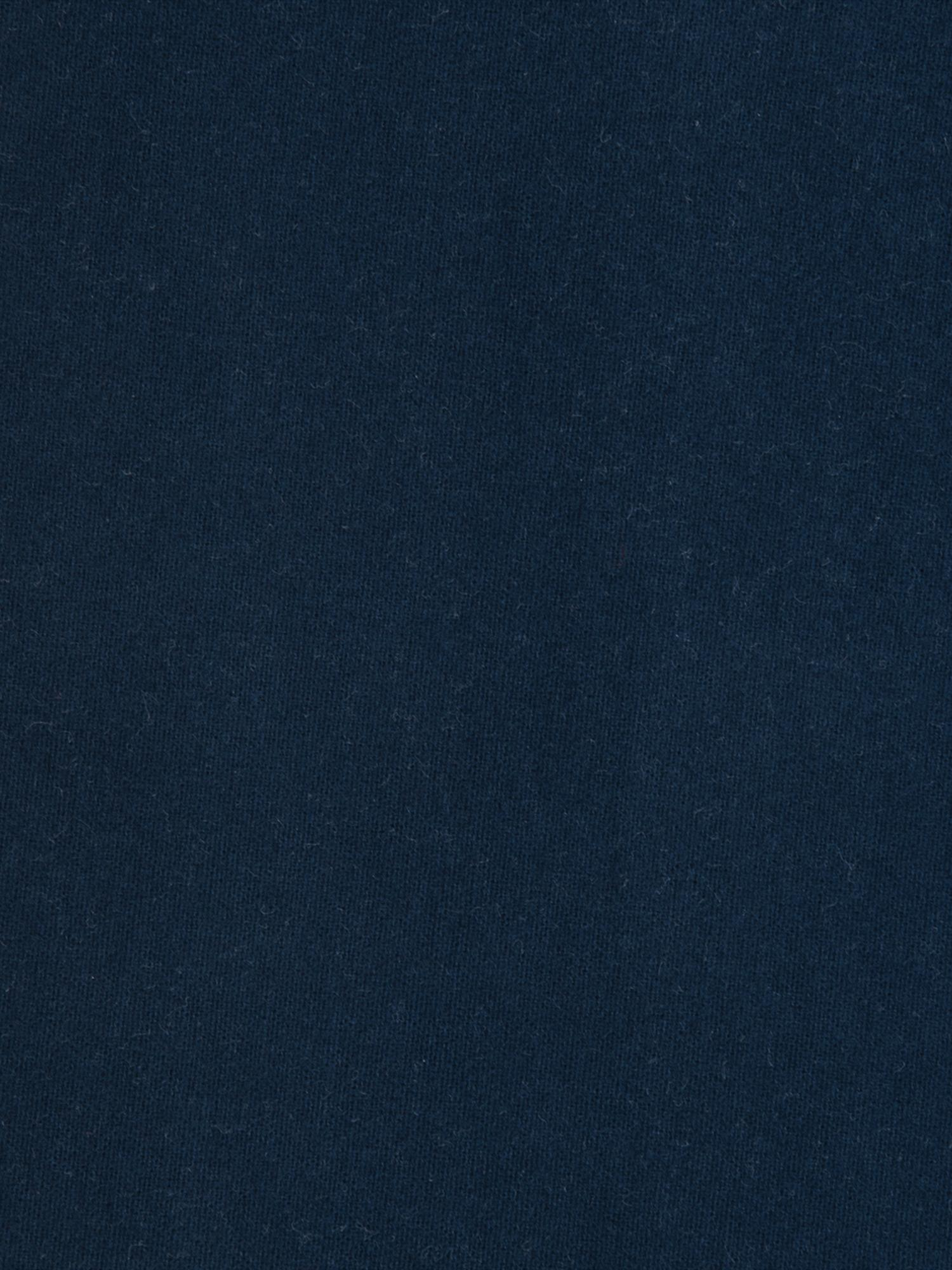 Spannbettlaken Biba in Navyblau, Flanell, Webart: Flanell, Navyblau, 180 x 200 cm