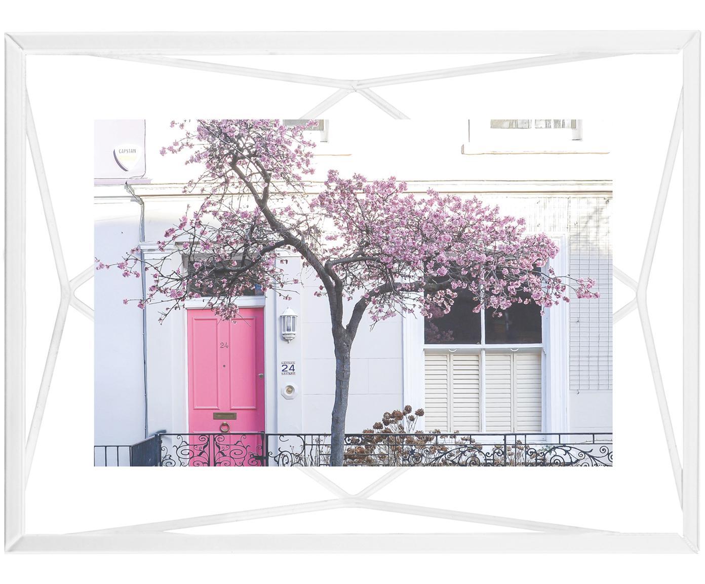 Cornice Prisma, Cornice: acciaio, Bianco, 10 x 15 cm