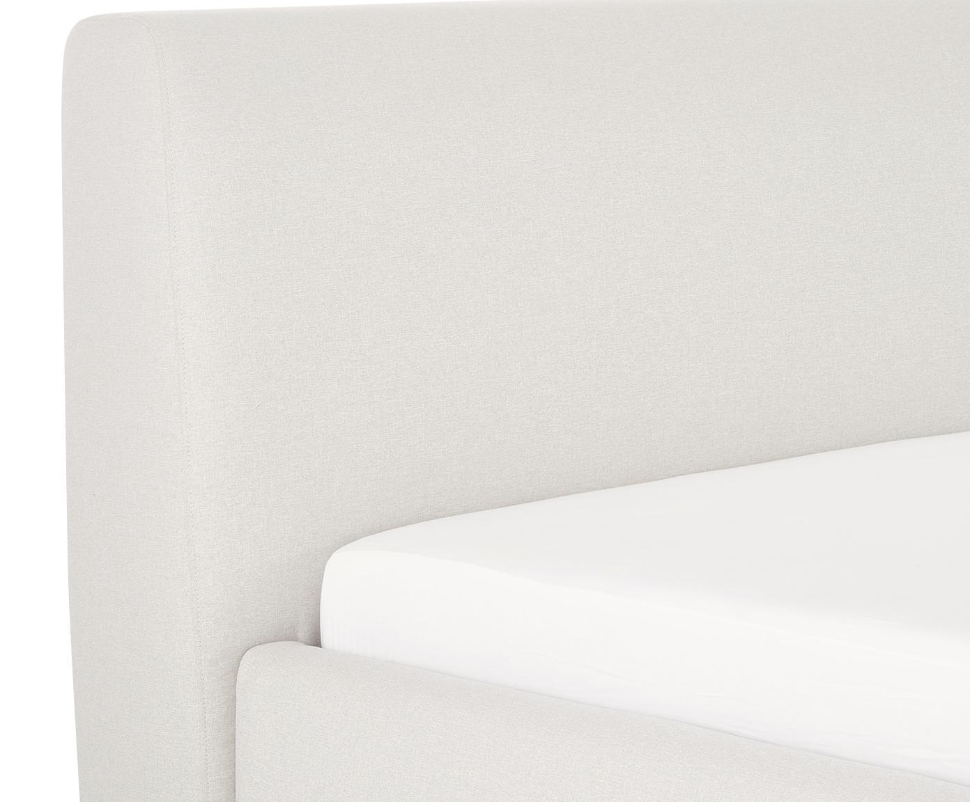 Łóżko tapicerowane Cloud, Korpus: lite drewno sosnowe, Tapicerka: poliester (materiał tekst, Beżowy, 180 x 200 cm