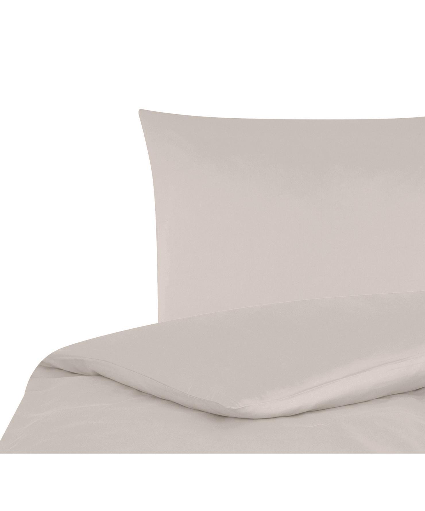 Katoensatijnen dekbedovertrek Comfort, Weeftechniek: satijn, licht glanzend, Taupe, 140 x 200 cm