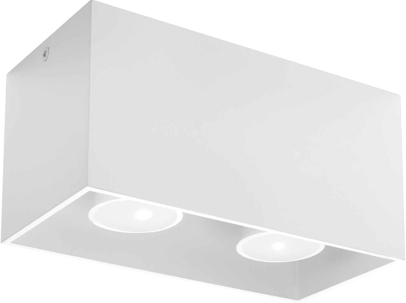 Deckenstrahler Geo, Aluminium, Weiß, 20 x 10 cm