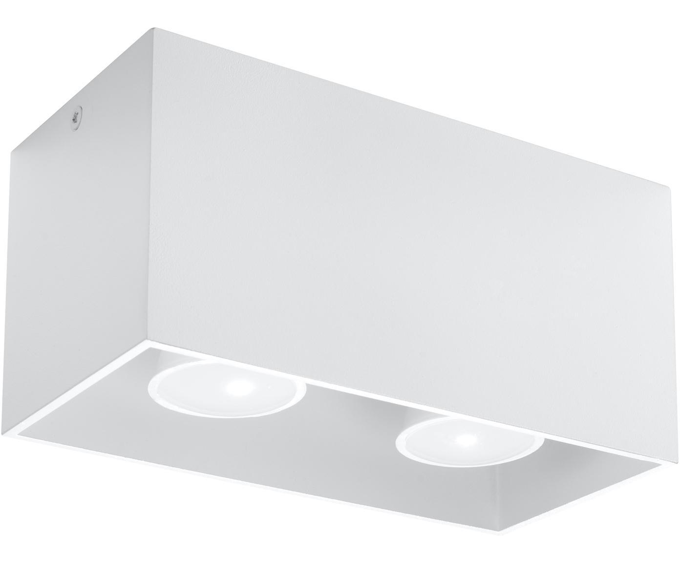 Faretto da soffitto Geo, Alluminio, Bianco, Larg. 20 x Alt. 10 cm