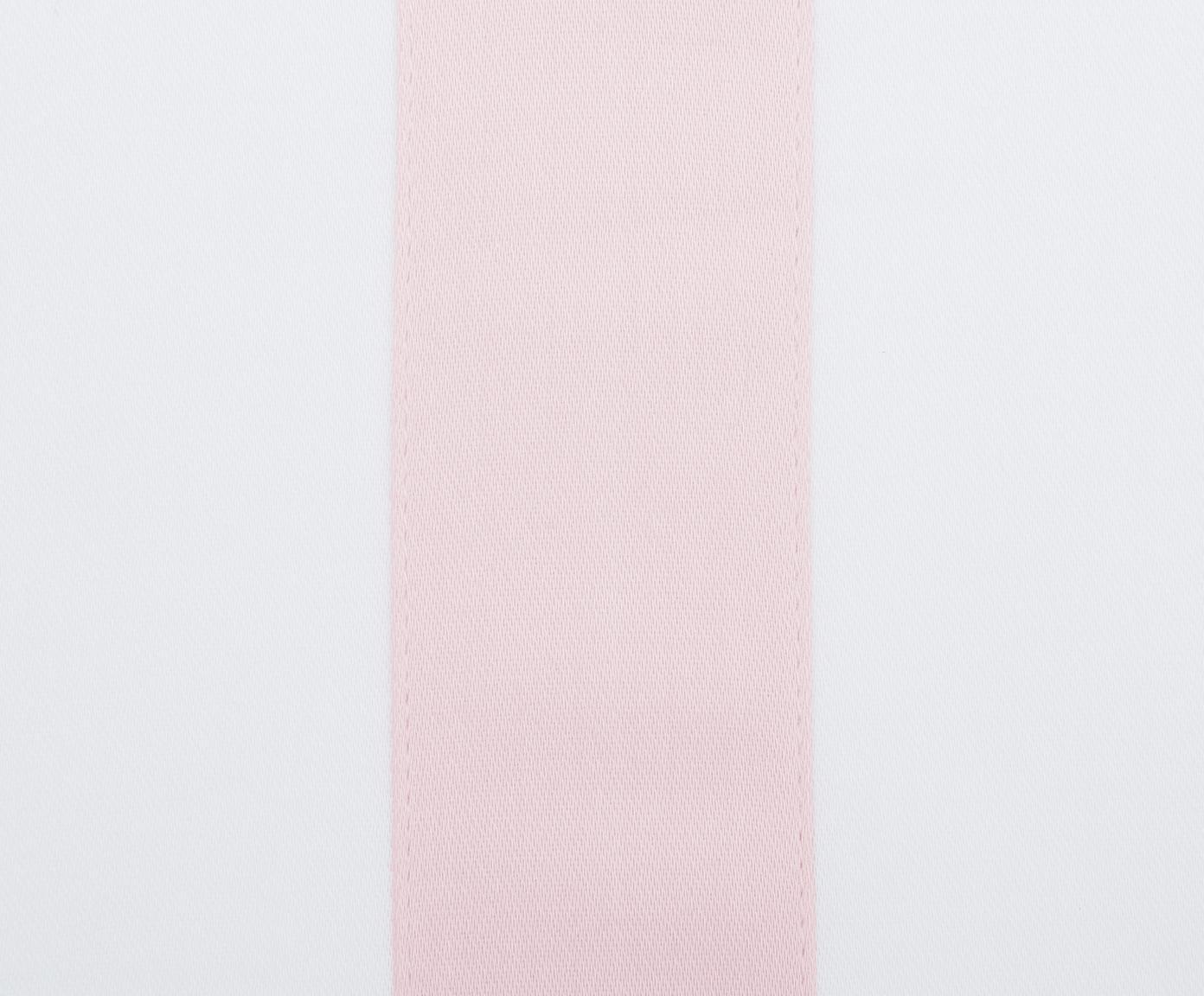 Pościel z satyny bawełnianej Nora, Biały, blady różowy, 240 x 220 cm