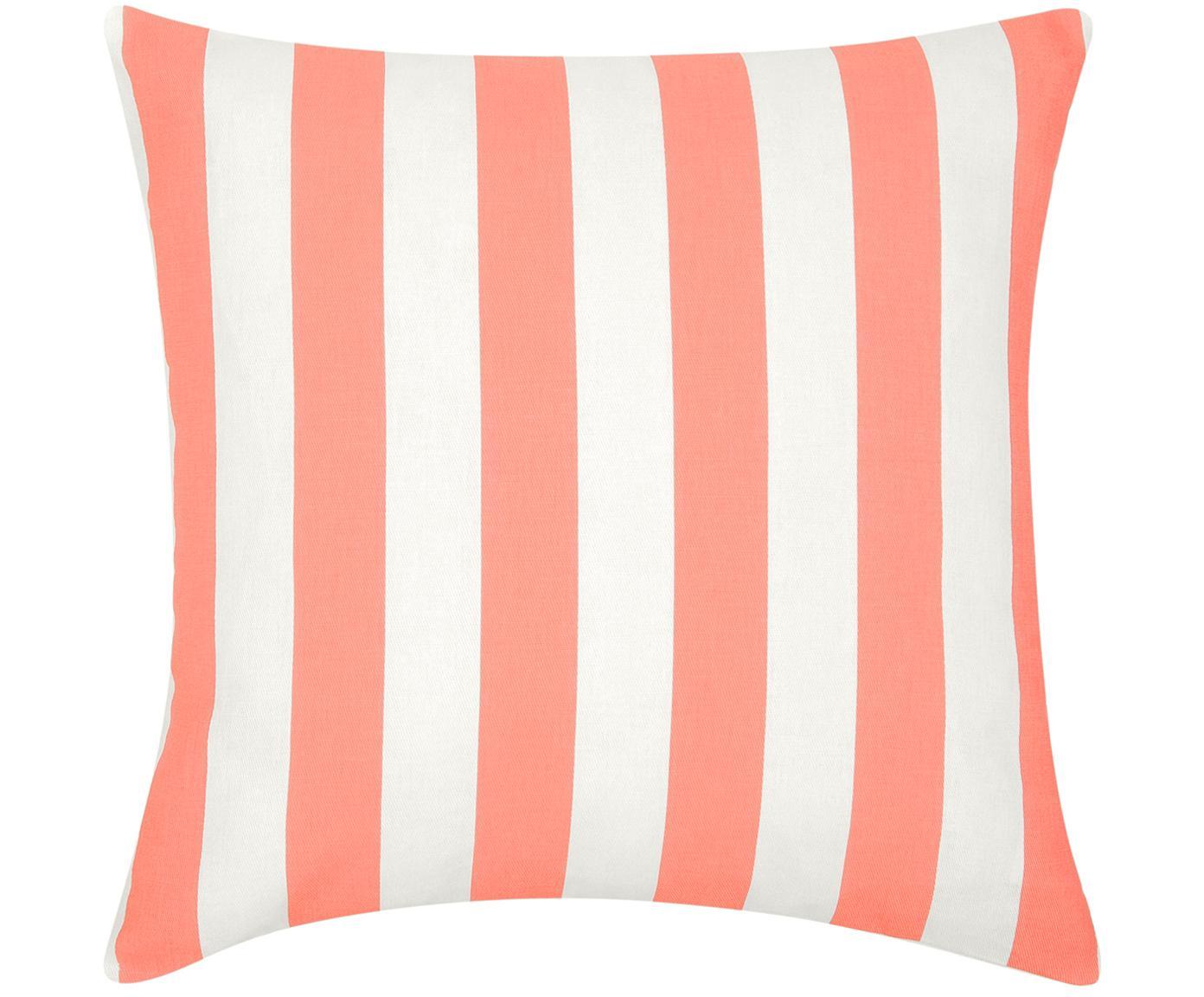 Federa arredo a righe in corallo/bianco Timon, Cotone, Corallo, bianco, Larg. 45 x Lung. 45 cm