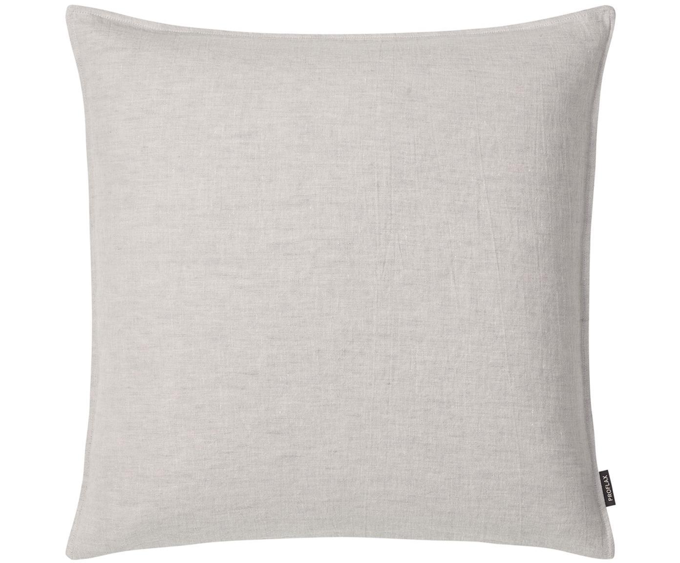 Lněný povlak na polštář sefektem soft-washed Sven, Stříbrná, šedá