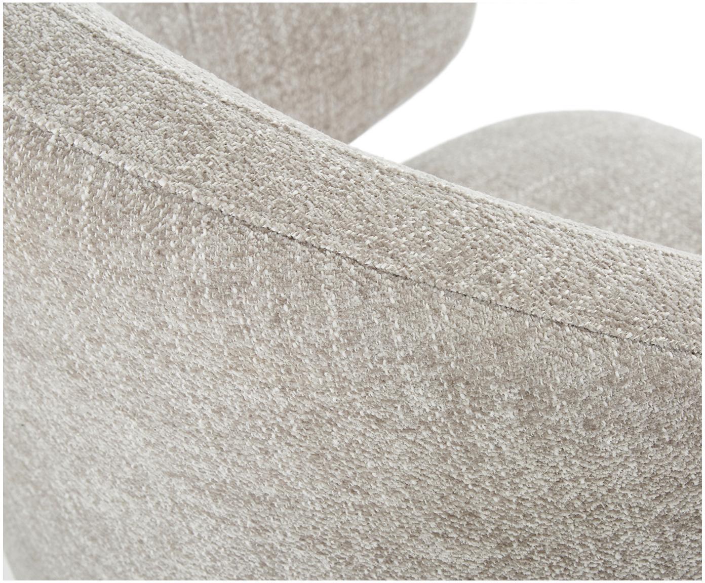 Poltrona con braccioli di design Celia, Rivestimento: tessuto (80% poliestere, , Gambe: metallo, verniciato a pol, Rivestimento: grigio chiaro Gambe: nero opaco, Larg. 57 x Prof. 62 cm