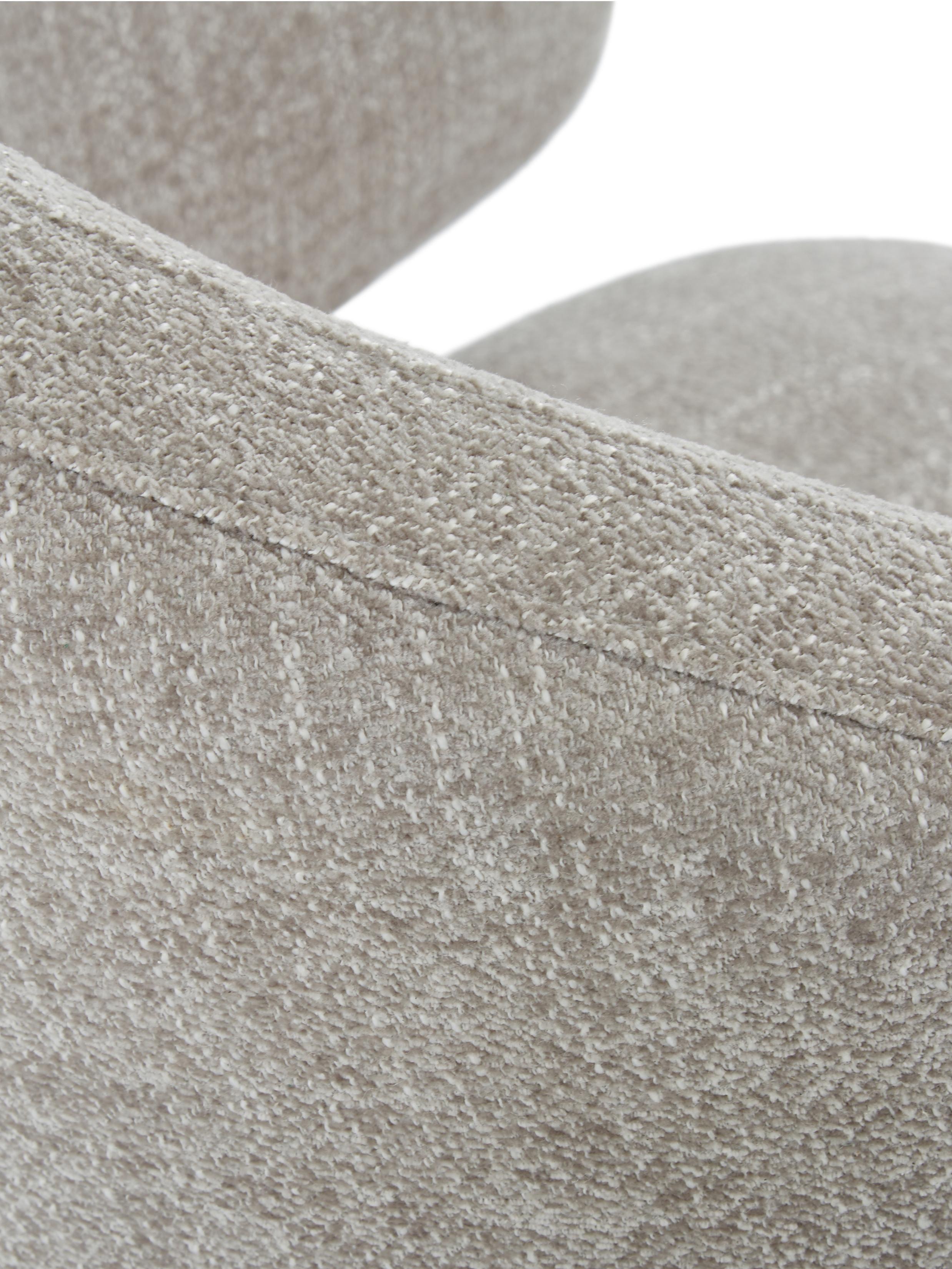 Armlehnstuhl Celia in modernem Design, Bezug: Textil (80% Polyester, 20, Beine: Metall, pulverbeschichtet, Webstoff Hellgrau, 57 x 79 cm