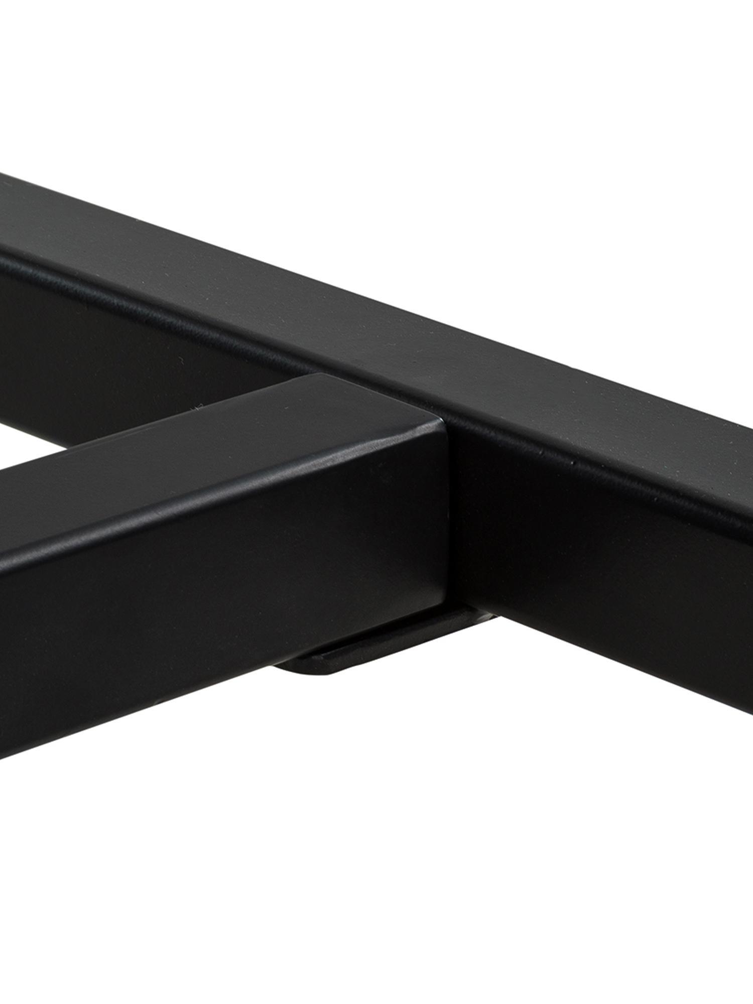 Table avec plateau en bois massif Raw, Plateau: manguier à aspect vintage Structure: noir