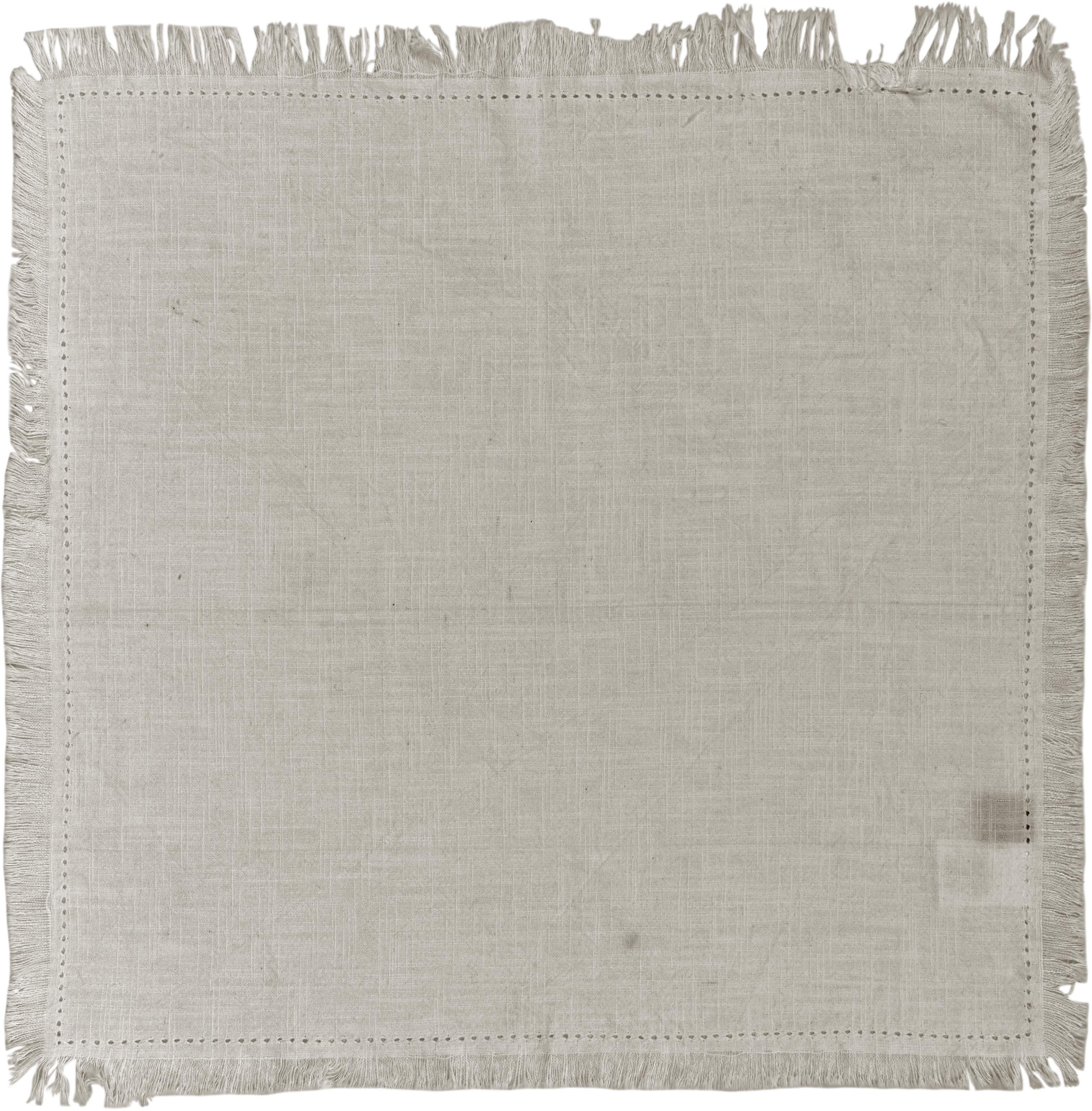 Serwetka z bawełny z frędzlami Hilma, 2 szt., 100% bawełna, Beżowy, S 45 x D 45 cm